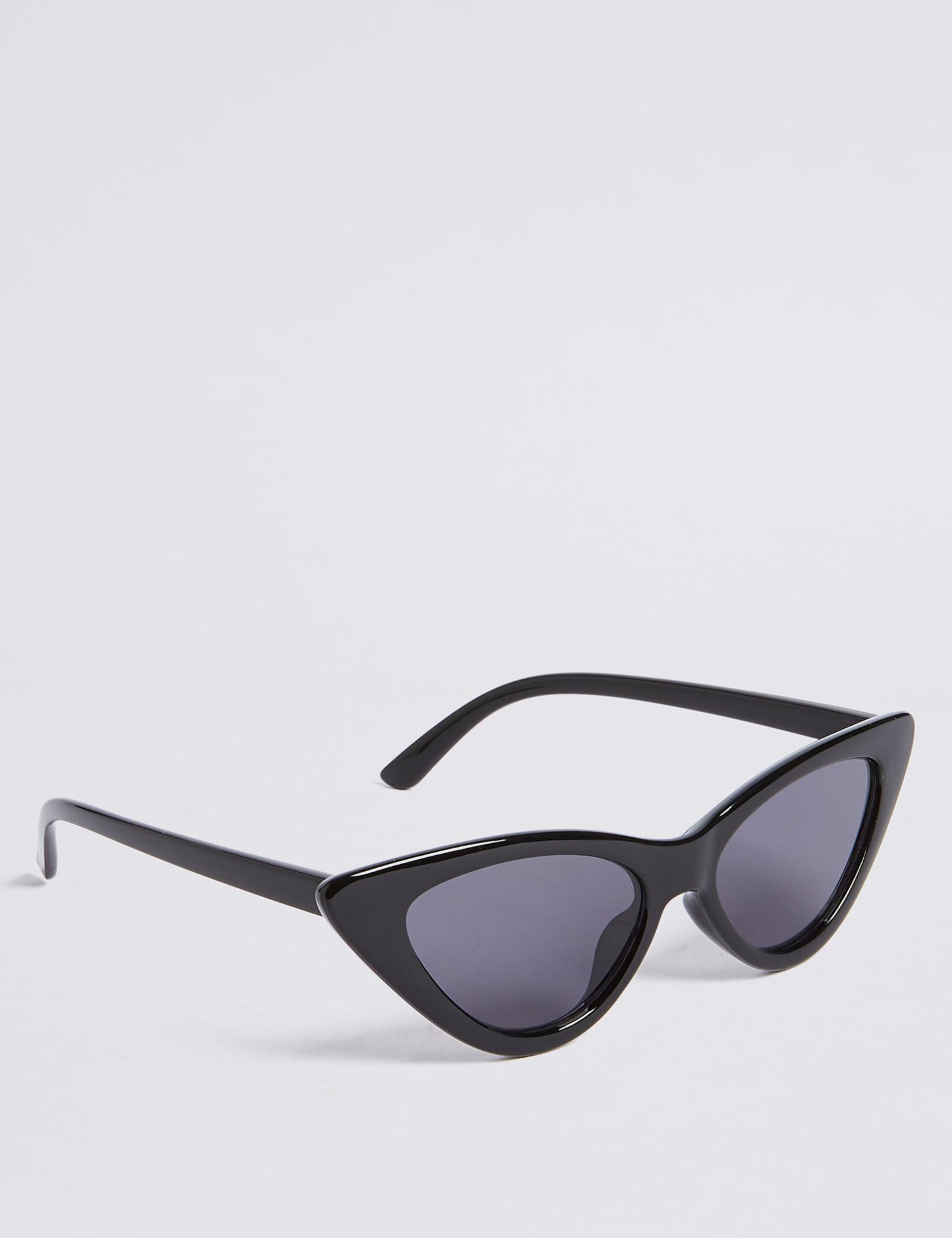 708cba573db Marks   Spencer Narrow Cat Eye Sunglasses in Black - Lyst