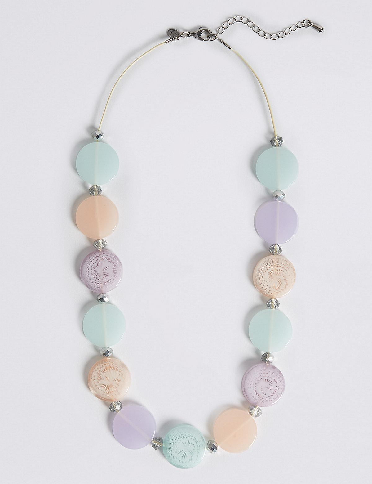 Marks and Spencer Flat Oval Necklace multi XsSQLr0F