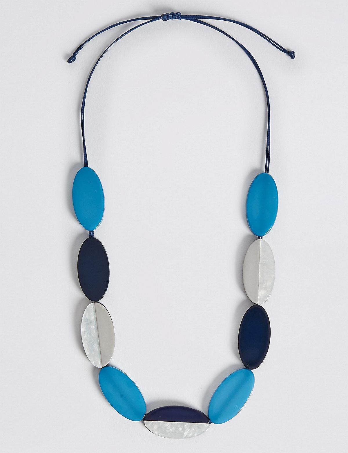 Marks and Spencer Flat Oval Necklace multi vzYHuZxit