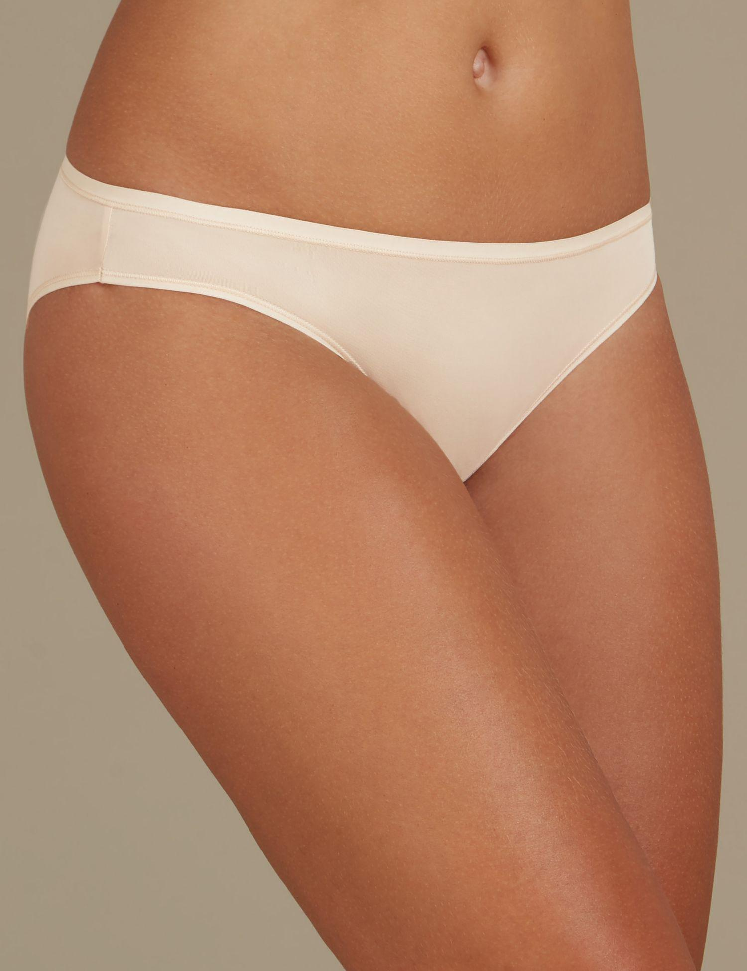 b1d8d49196bb Marks & Spencer. Women's Natural 5 Pack No Vpl Microfibre Low Rise Bikini  Knickers