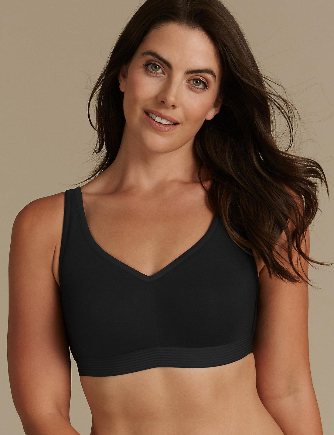 a4e1119ecadd0 Lyst - Marks & Spencer Cotton Rich Non-padded Full Cup Bra B-g in Black
