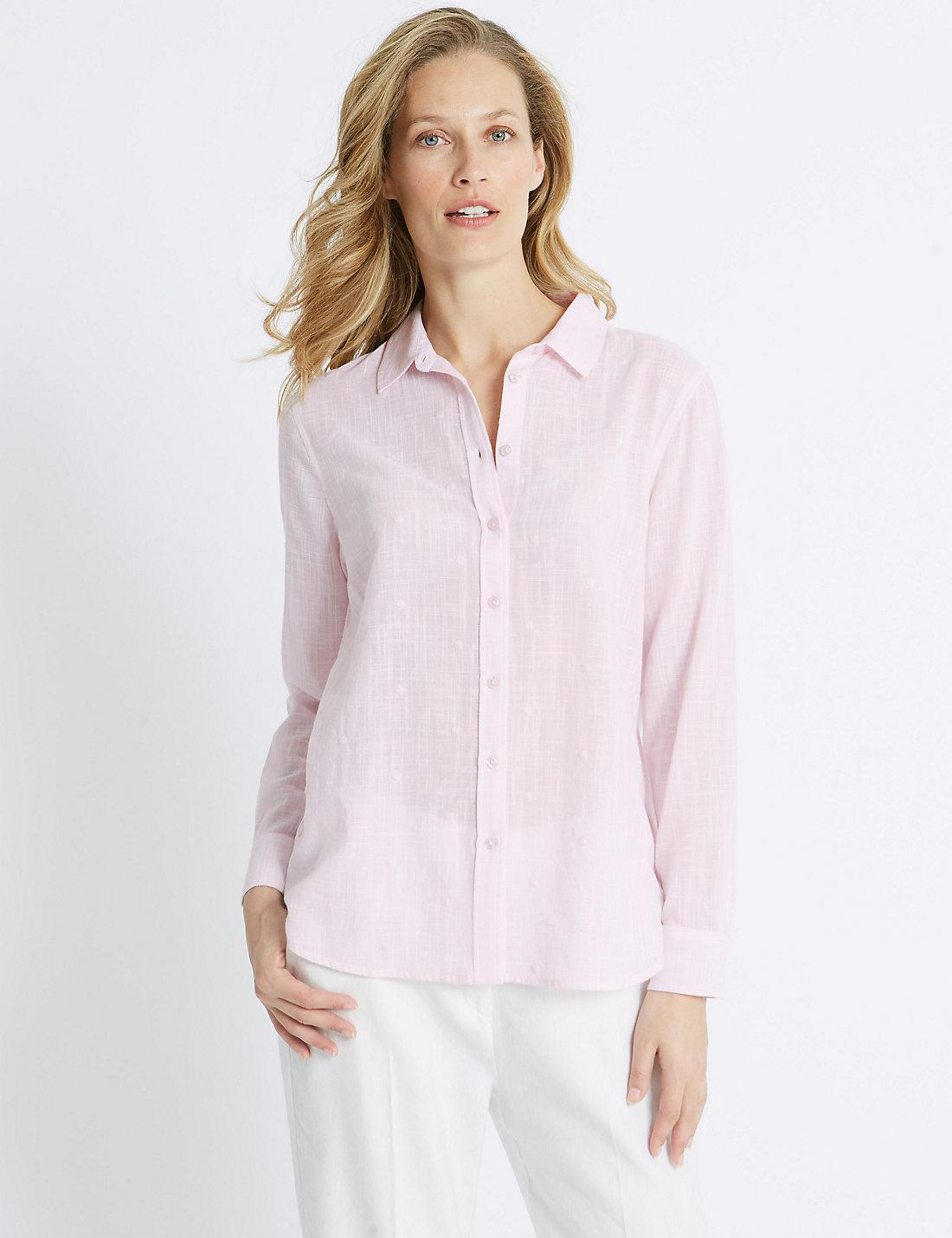Marks & Spencer Pure Cotton Embroidered Long Sleeve Shirt - - 6 Free Shipping Ebay kE3trPB