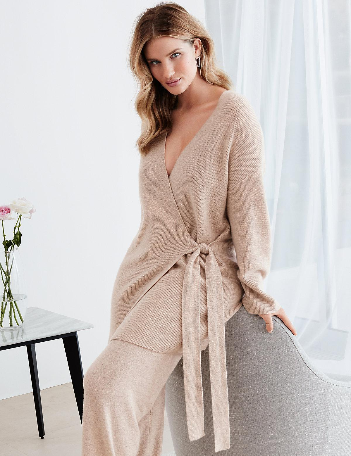 Marks & Spencer Pure Cashmere Long Sleeve Dressing Gown in Natural ...