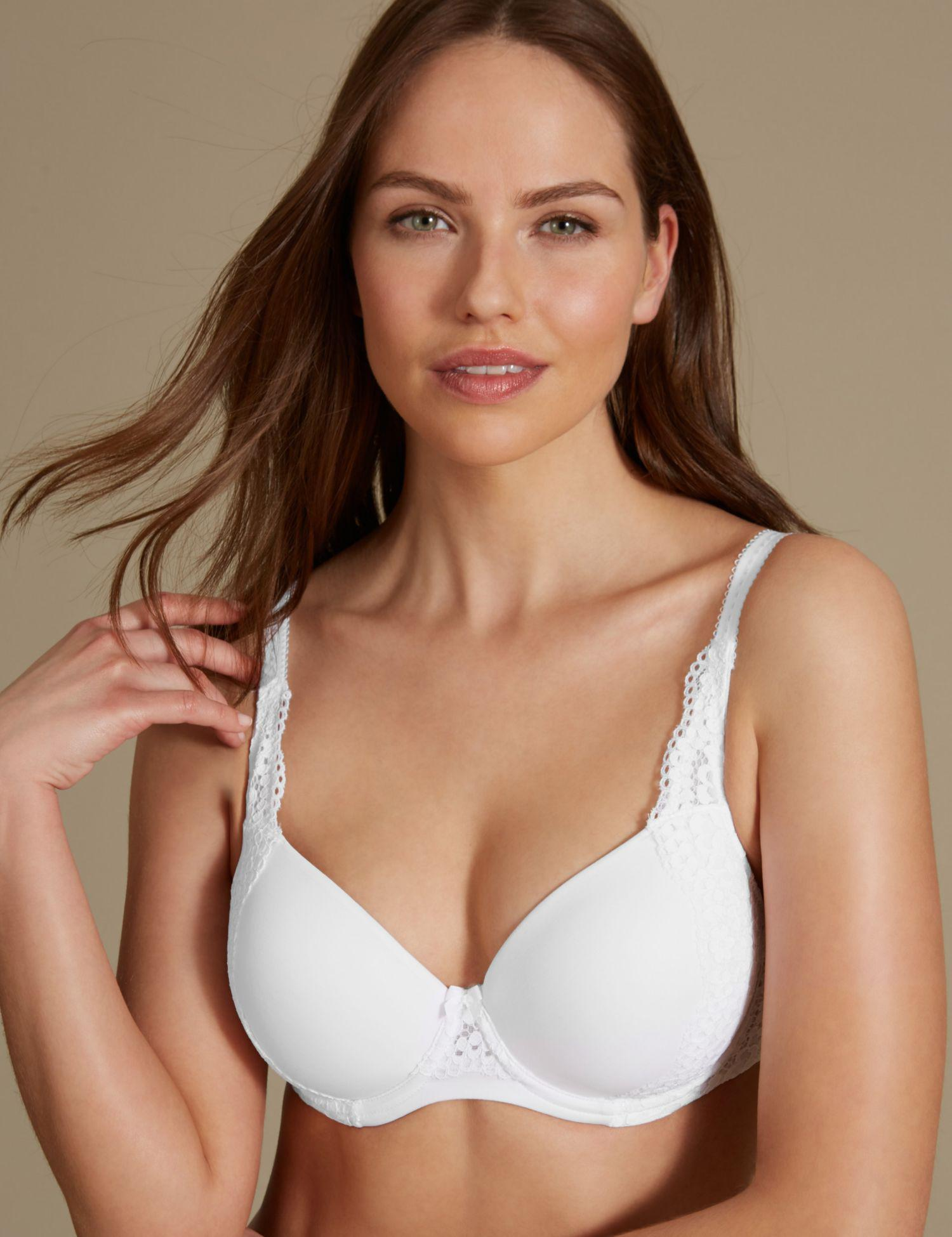 413fd29f4a ... purchase cheap c01ea 6a58c Marks Spencer Vintage Lace Padded Full Cup  T-shirt Bra A-e ...