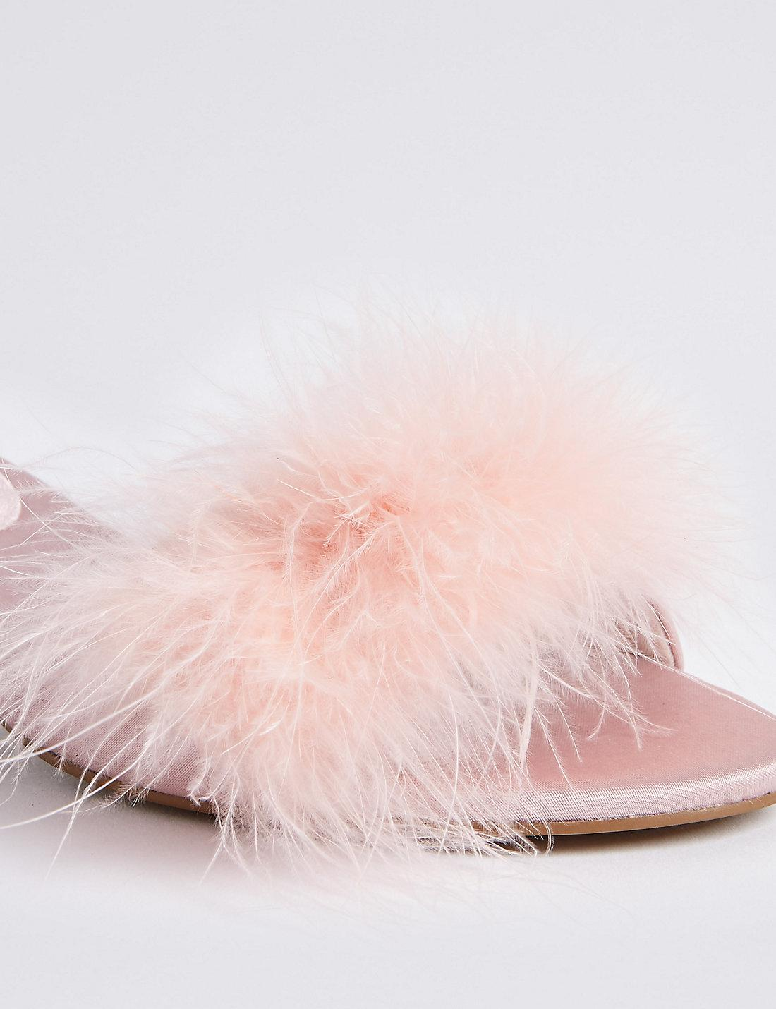91bc509c5c7 Lyst - Marks   Spencer Fluffy Mule Slippers in Pink