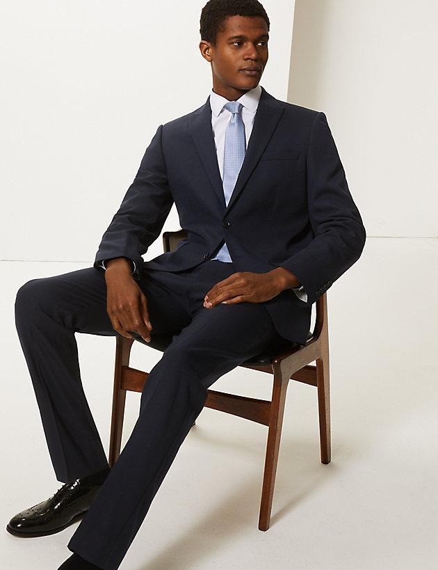 2d2956ff6609 Lyst - Marks & Spencer Navy Slim Fit Jacket in Blue for Men