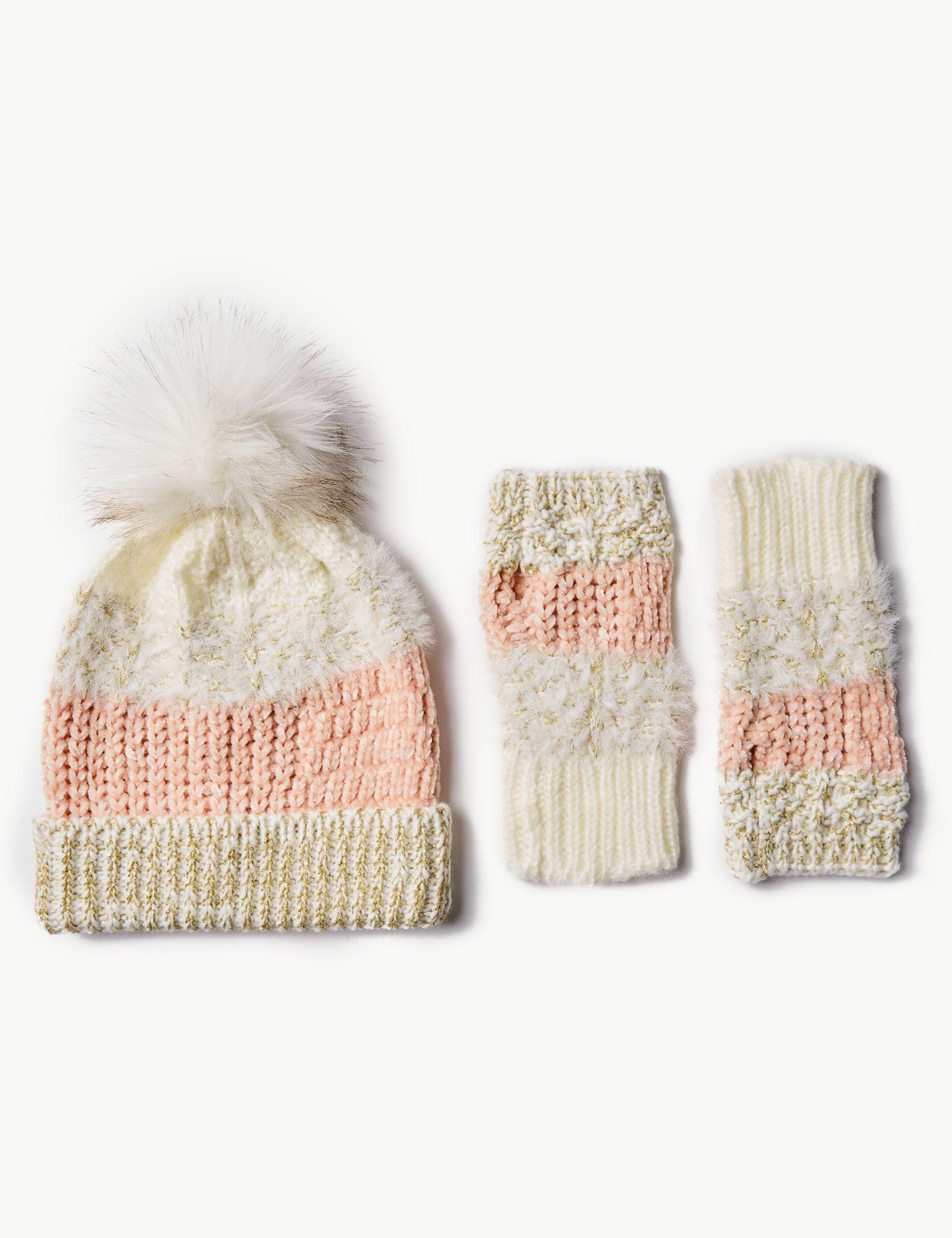 f39630562 Marks & Spencer Knitted Hat With Gloves Set - Lyst