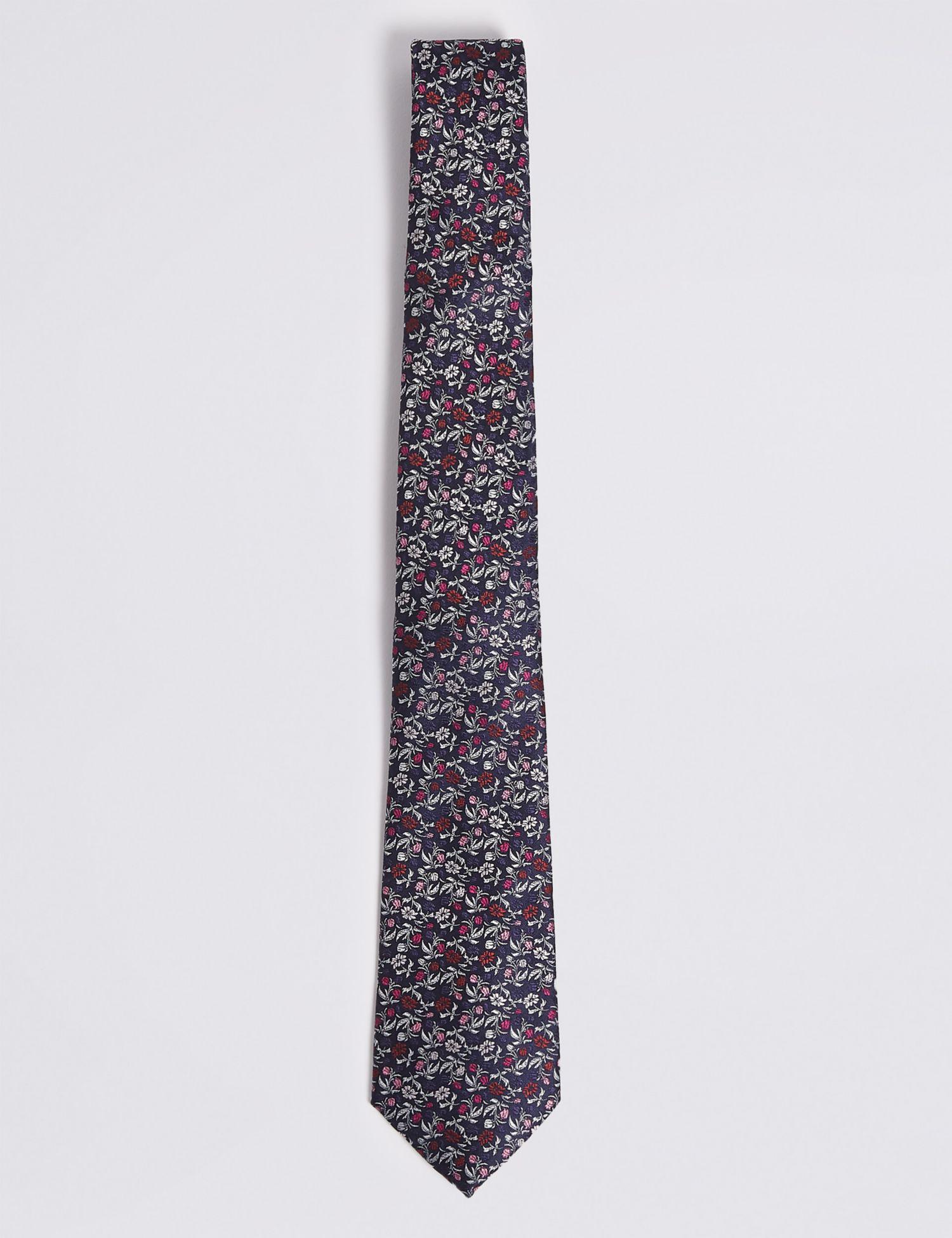 Marks Spencer Floral Tie For Men Lyst Hanger Marksspencer Slim