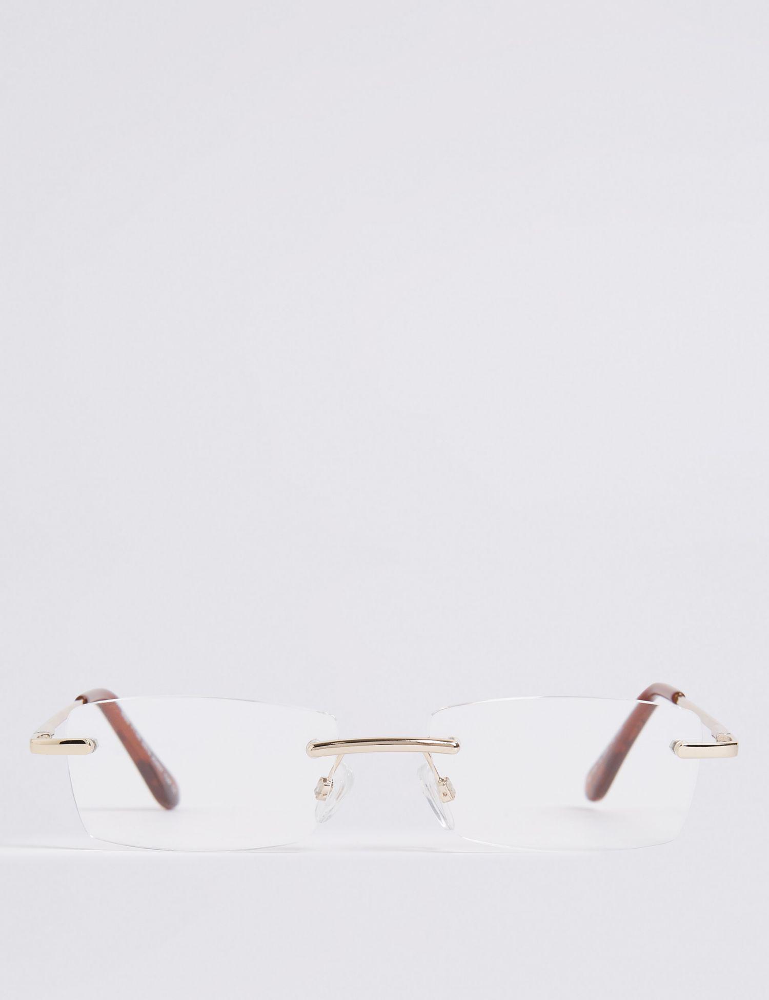 17bcda5fd38 Marks   Spencer Rimless Rectangle Reading Glasses in Metallic - Lyst