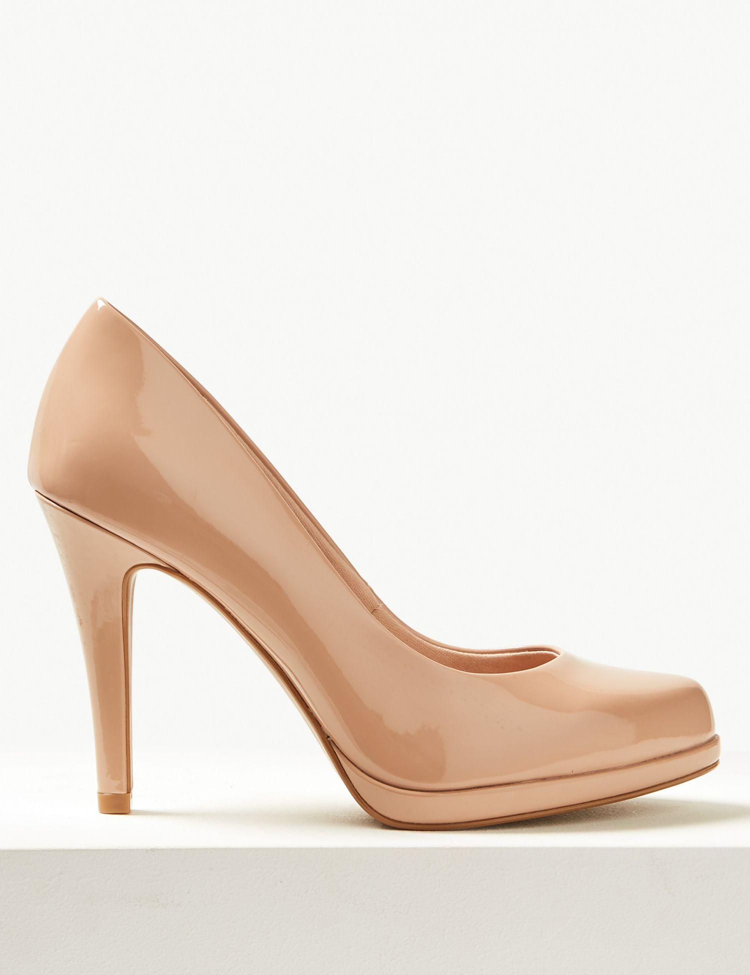 d0430867e82 Marks   Spencer Wide Fit Stiletto Heel Court Shoes in Natural - Lyst