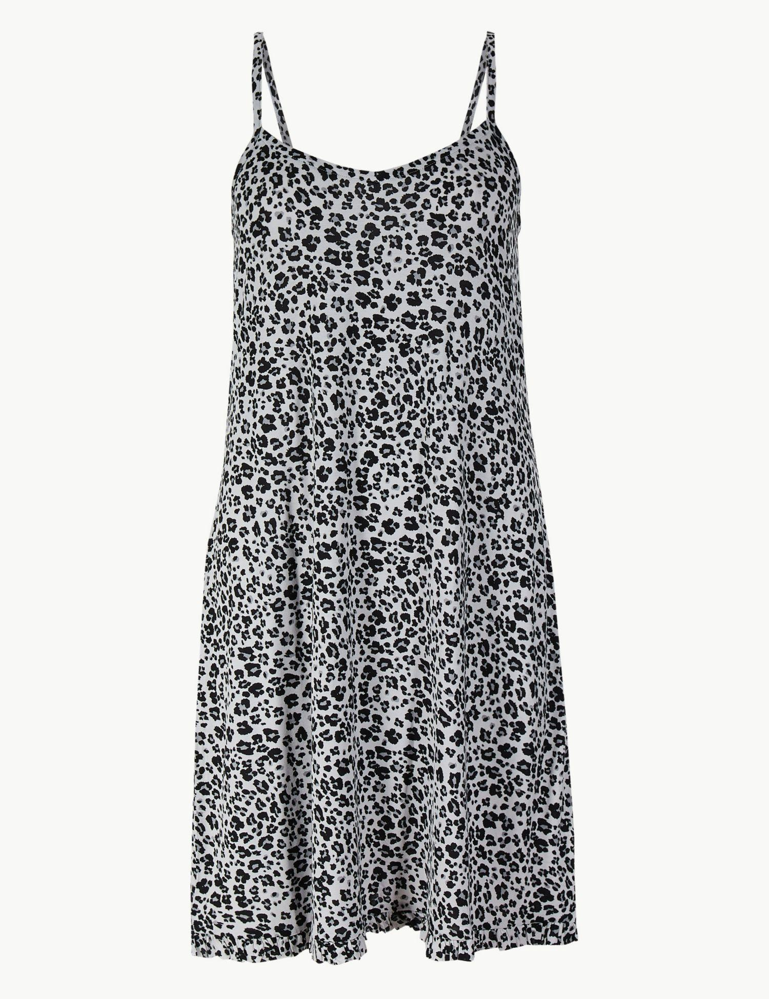 Marks   Spencer Animal Print Chemise in Pink - Lyst 32d6fd984