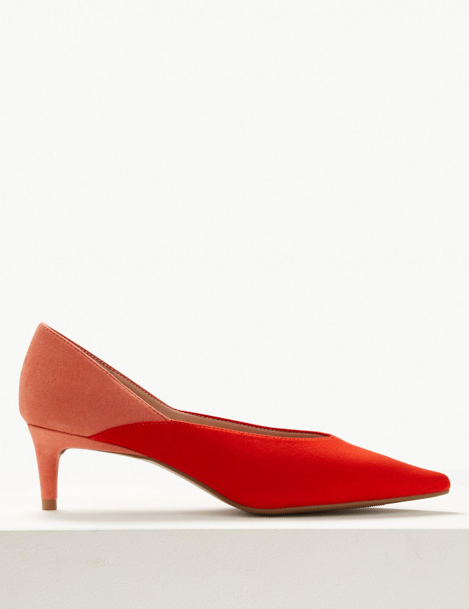 a3a7f1bd71f Marks   Spencer Kitten Heel Pointed Court Shoes in Red - Lyst