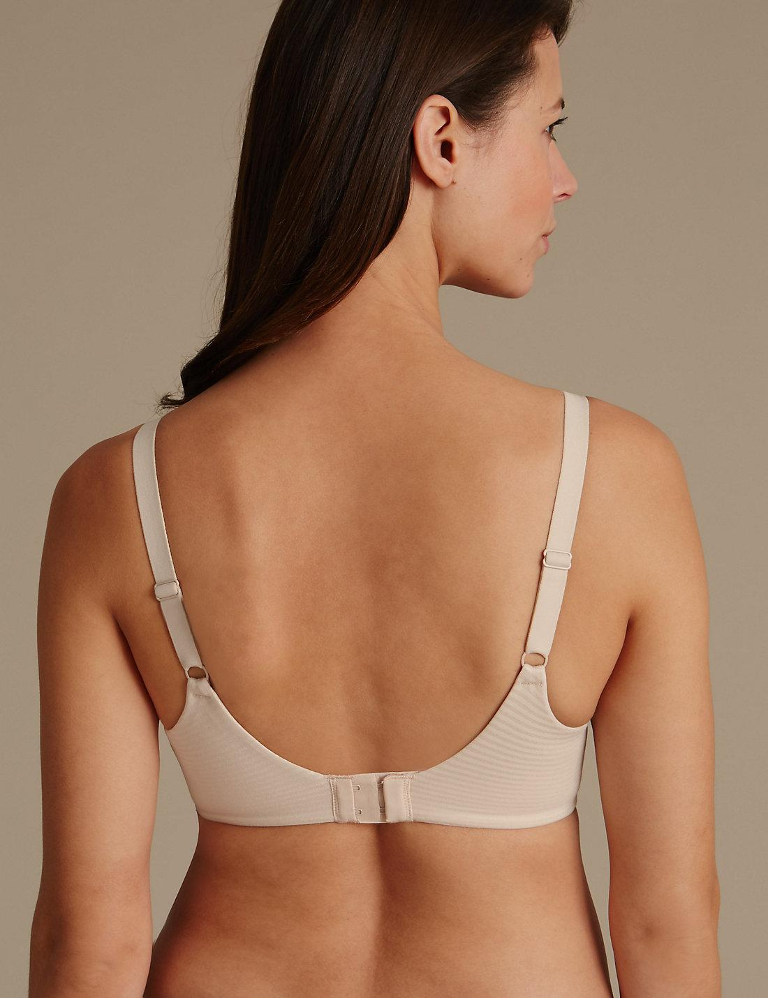 f36ef1111f5de Lyst - Marks   Spencer Sumptuously Soft Underwired Striped Full Cup T-shirt  Bra Dd-g in Natural