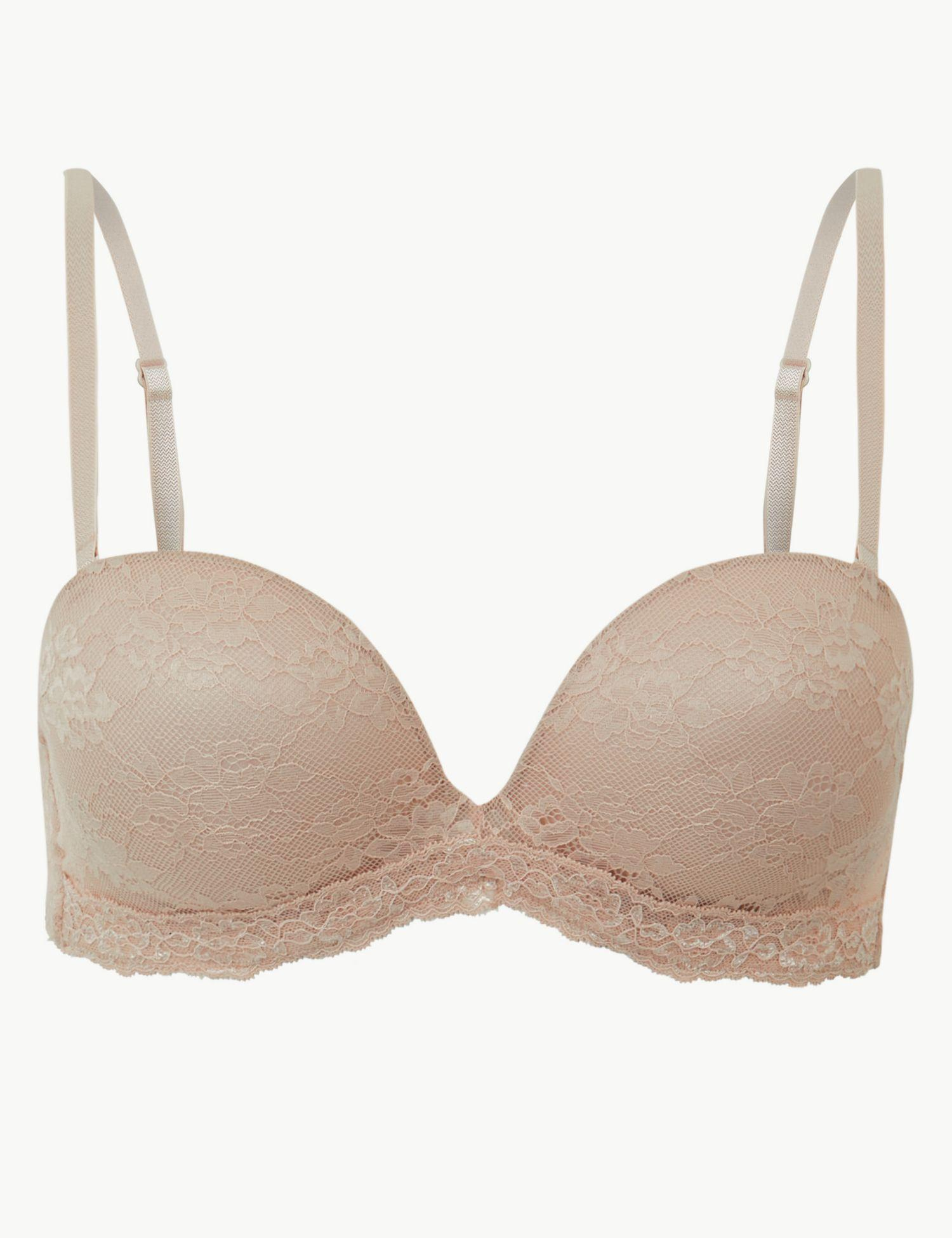 e2c64a3661 Marks   Spencer Louisa Lace Plunge Strapless Bra A-e in White - Lyst