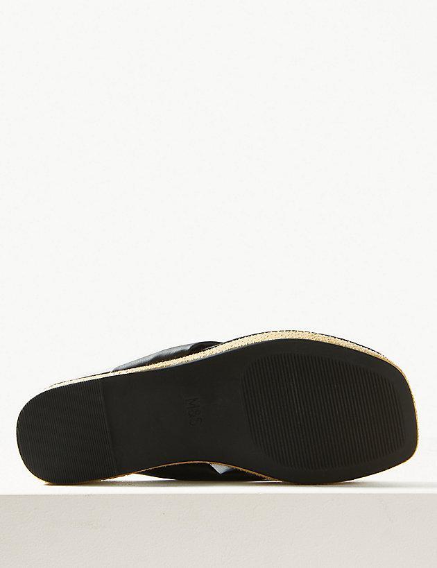 292301d6277 Marks   Spencer - Black Flatform Toe Thong Sandals - Lyst. View fullscreen