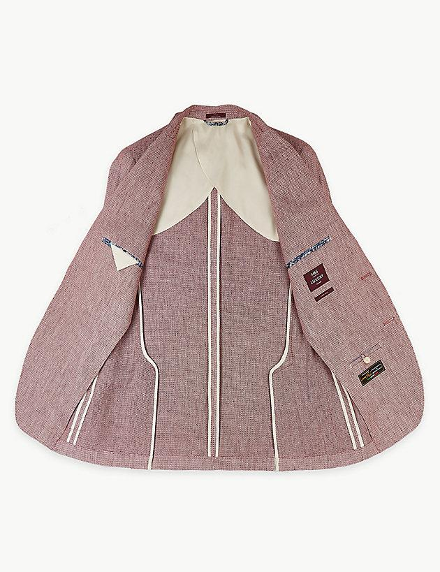 eafcb9c265aef ... Linen Rich Textured Tailored Fit Jacket for Men - Lyst. View fullscreen