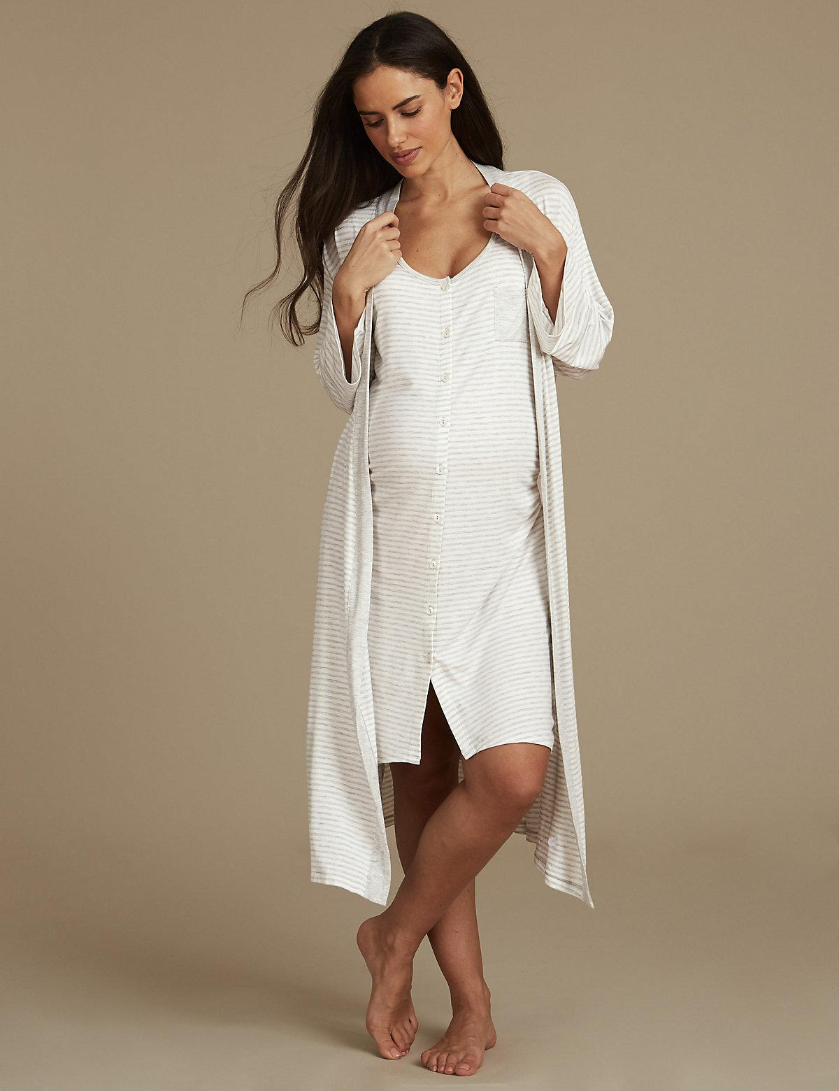 b9bacaf457 Marks   Spencer Maternity Wrap Dressing Gown - Lyst