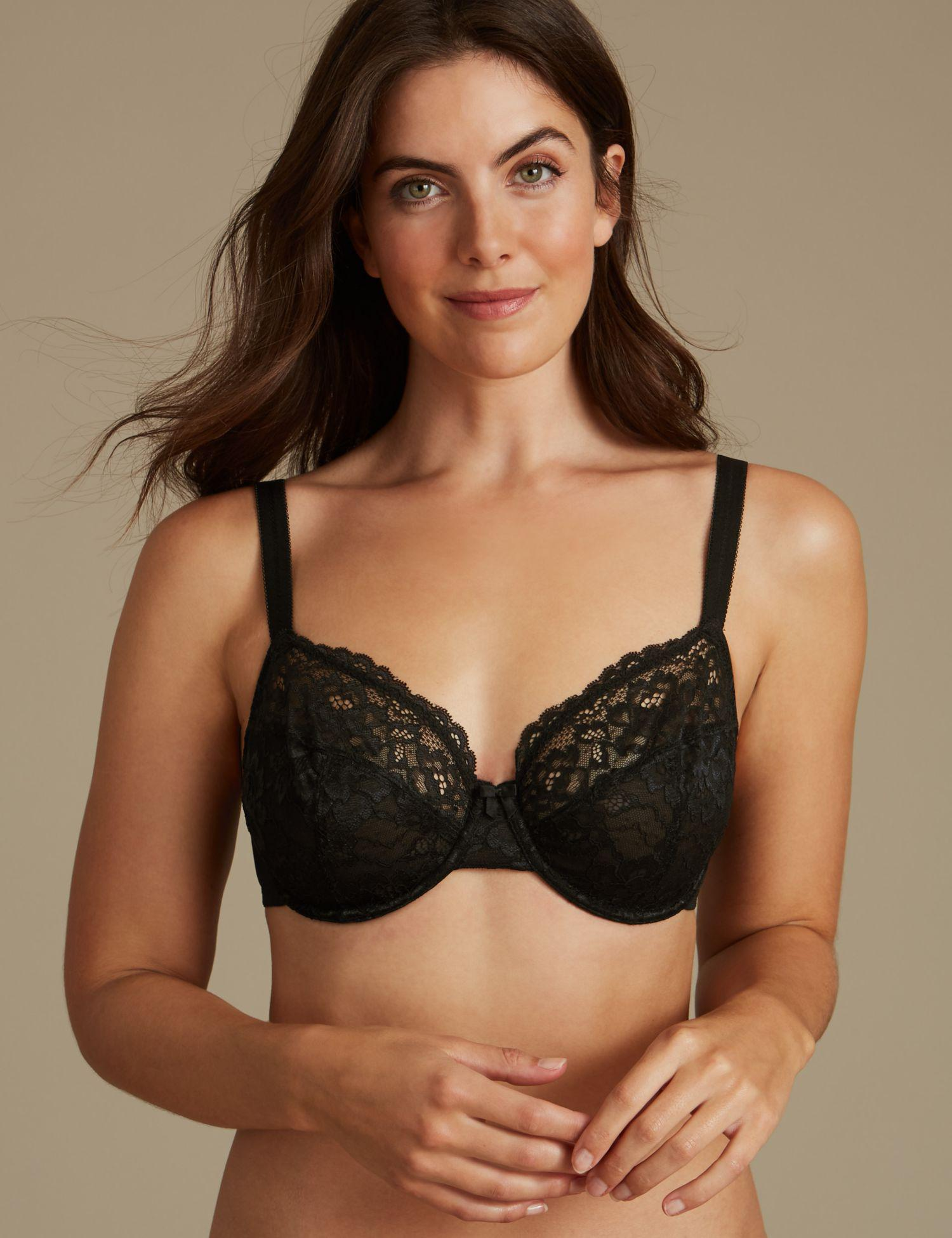 a4285ac1359db Marks   Spencer. Women s Black 2 Pack Louisa All Over Lace Non-padded ...