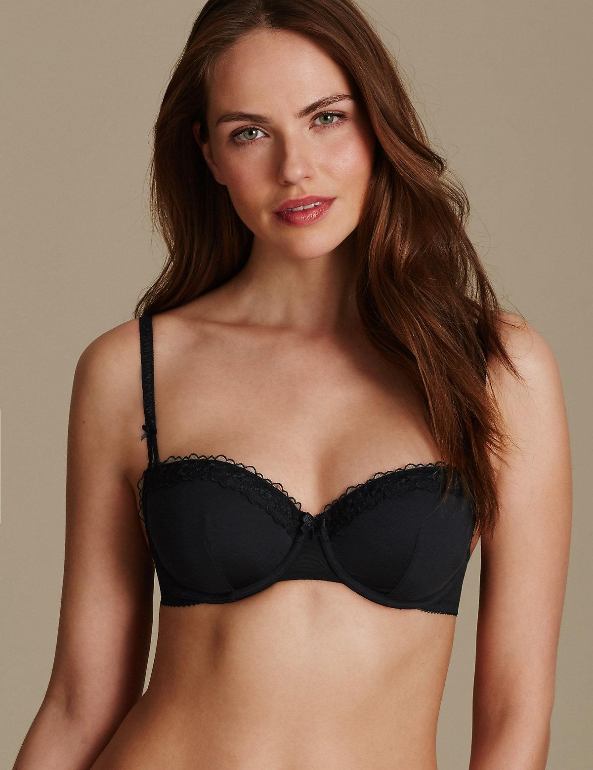 6caaf95ac5116 Marks   Spencer 2 Pack Embroidered Padded Push Up Bra A-e - Lyst