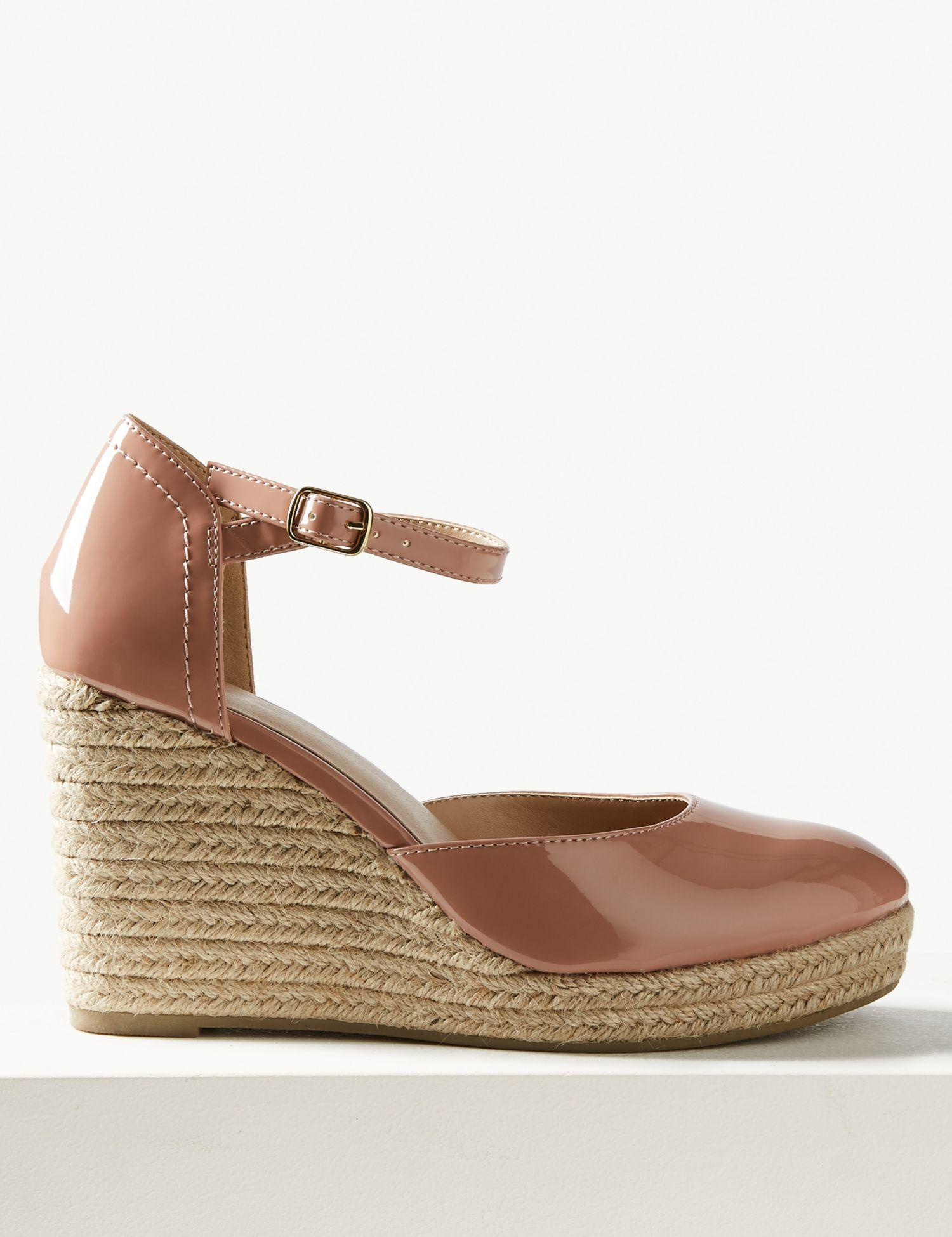 eceff443902 Marks & Spencer Wedge Heel Almond Toe Espadrilles in Natural - Lyst