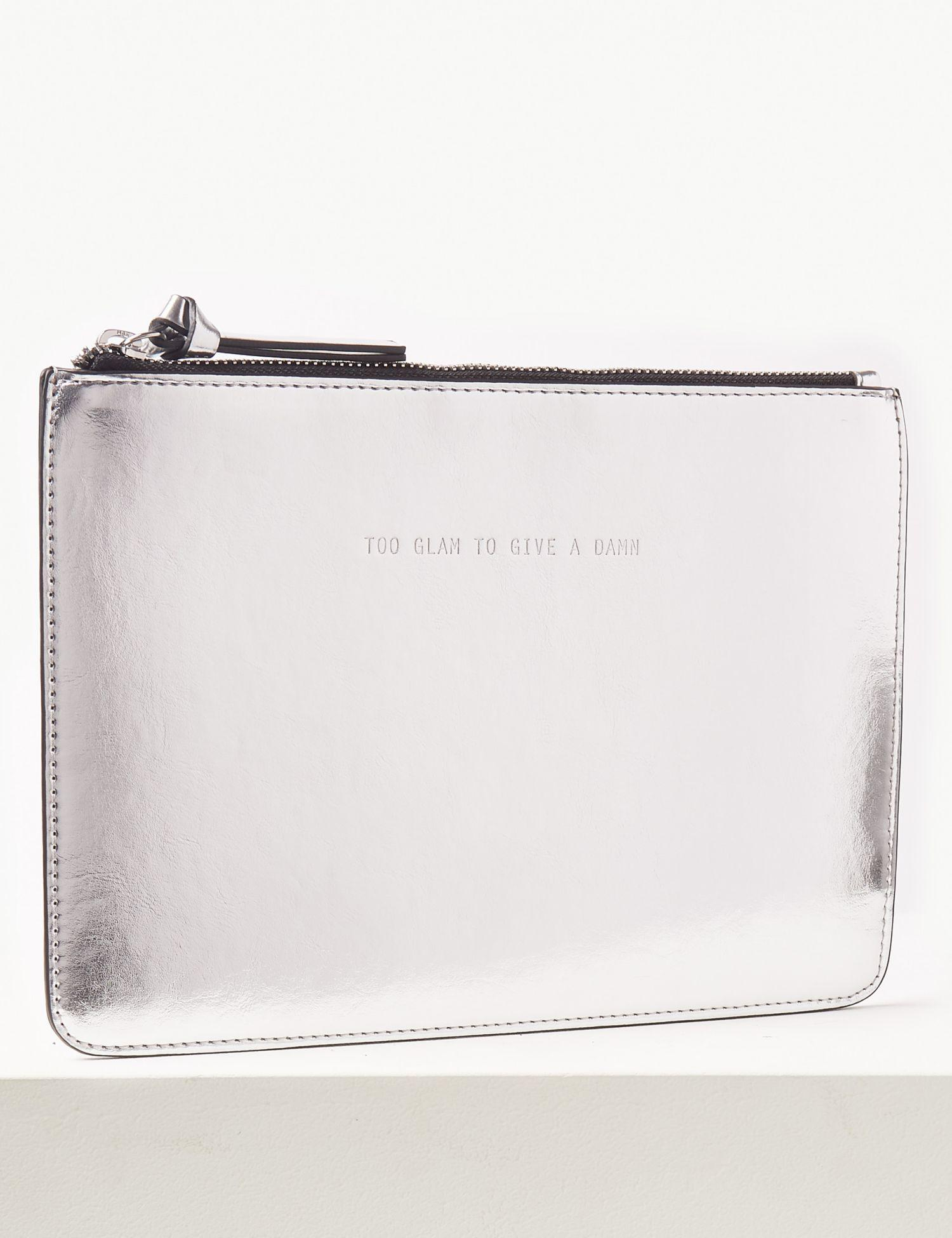 df200f21aa Marks   Spencer Faux Leather Clutch Purse in Metallic - Lyst