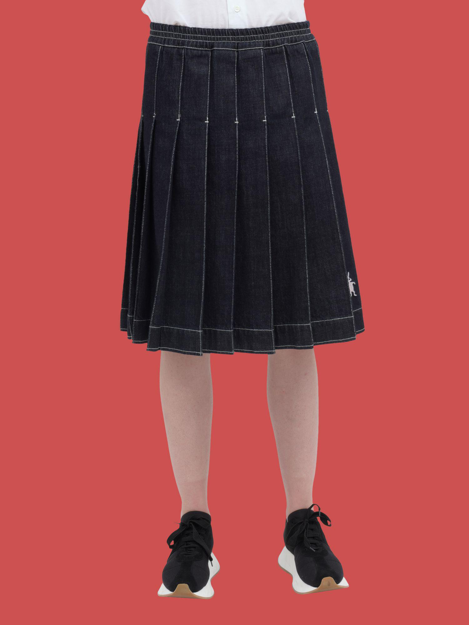 ae477f9e9f Lyst - Marni Pleated Skirt In Non-washed Denim in Blue