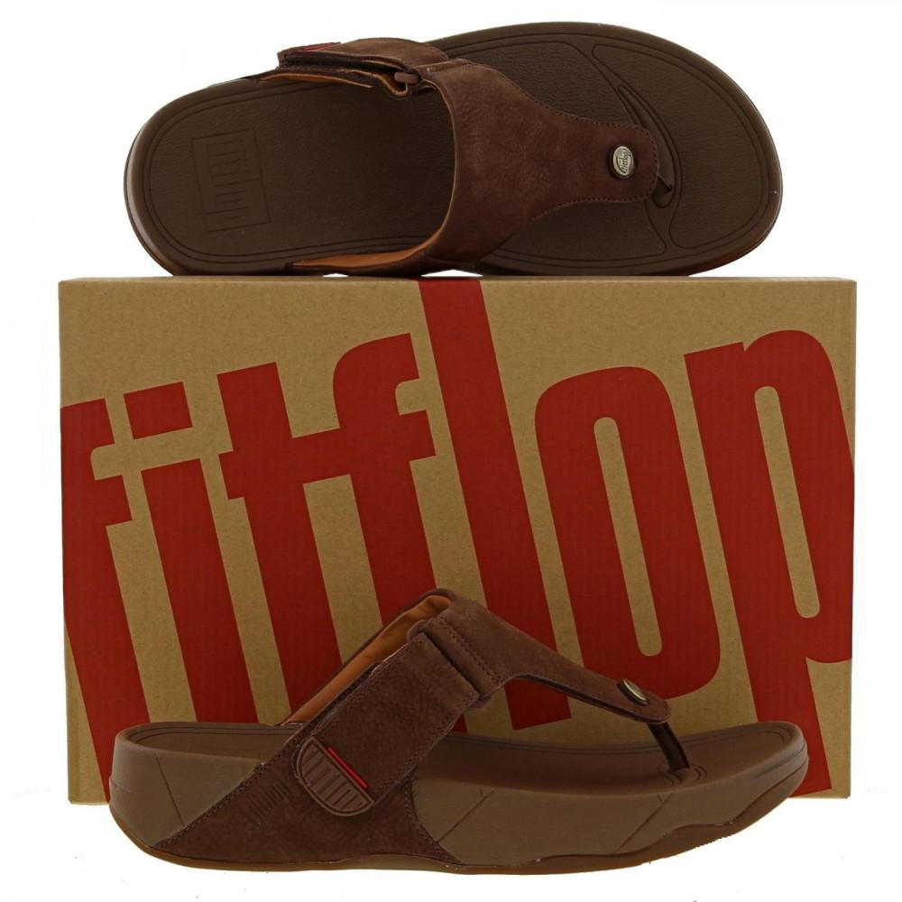 b6916251e Fitflop - Brown Trakk Ii Leather Toe Post Flip Flop Sandals for Men - Lyst.  View fullscreen