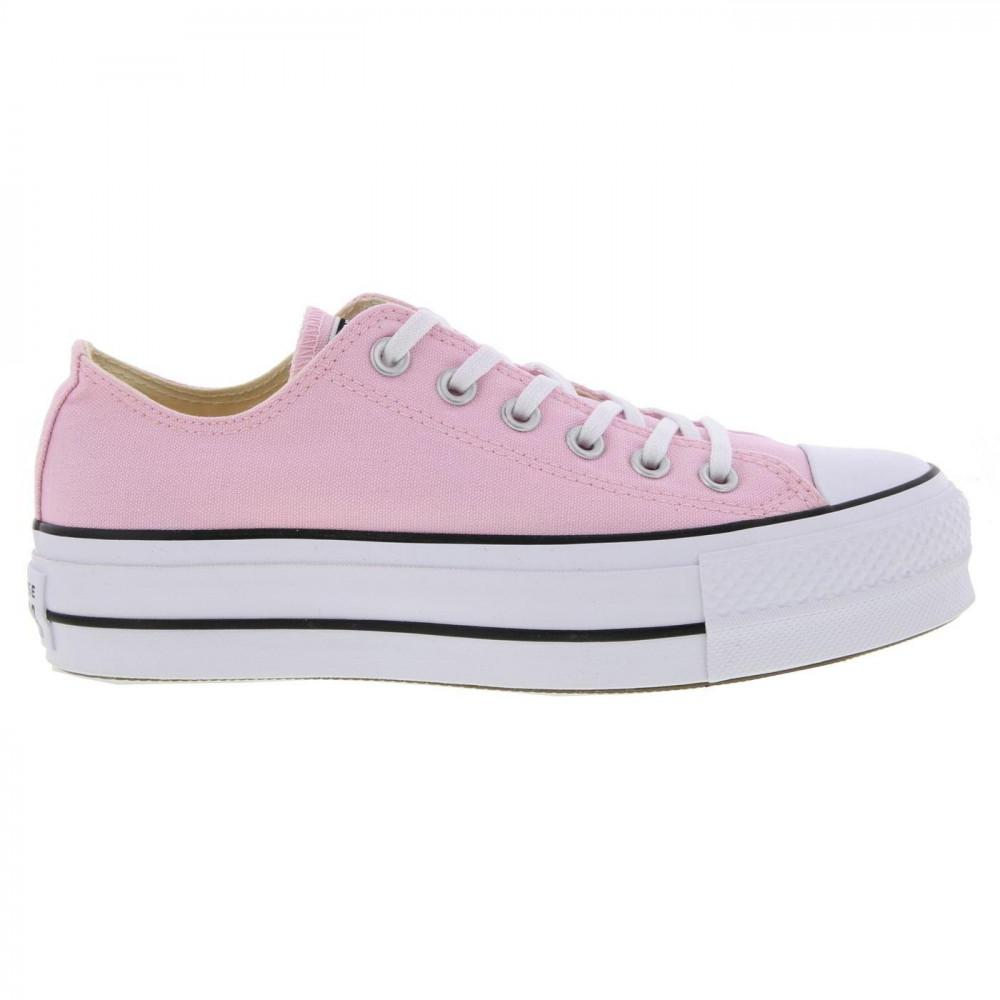 0ca401f5f281 Converse. Women s Pink All Star Low Platform Trainers Lift Ox Chunky Shoes