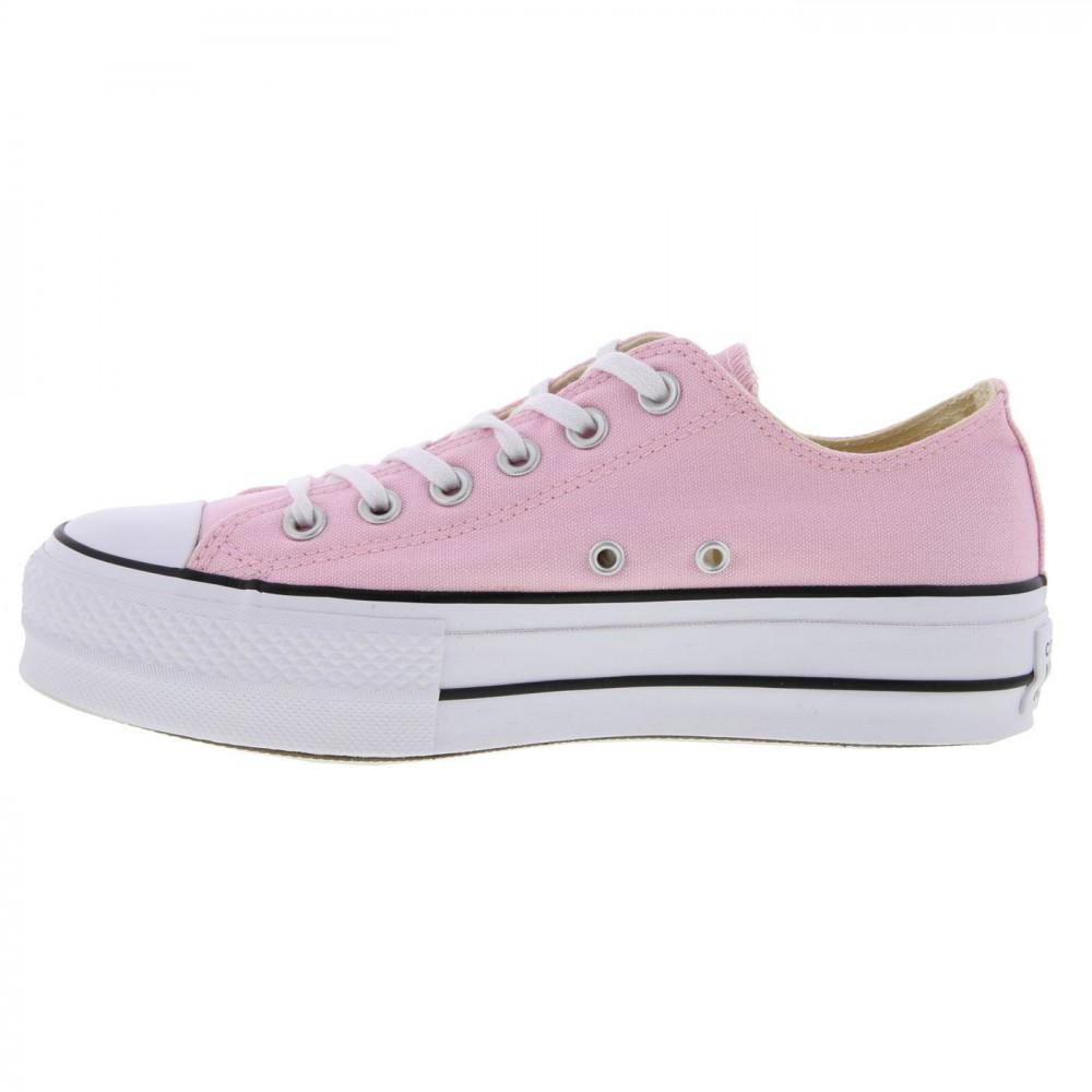 1786772db8f4 Converse - Pink All Star Low Platform Trainers Lift Ox Chunky Shoes - Lyst.  View fullscreen