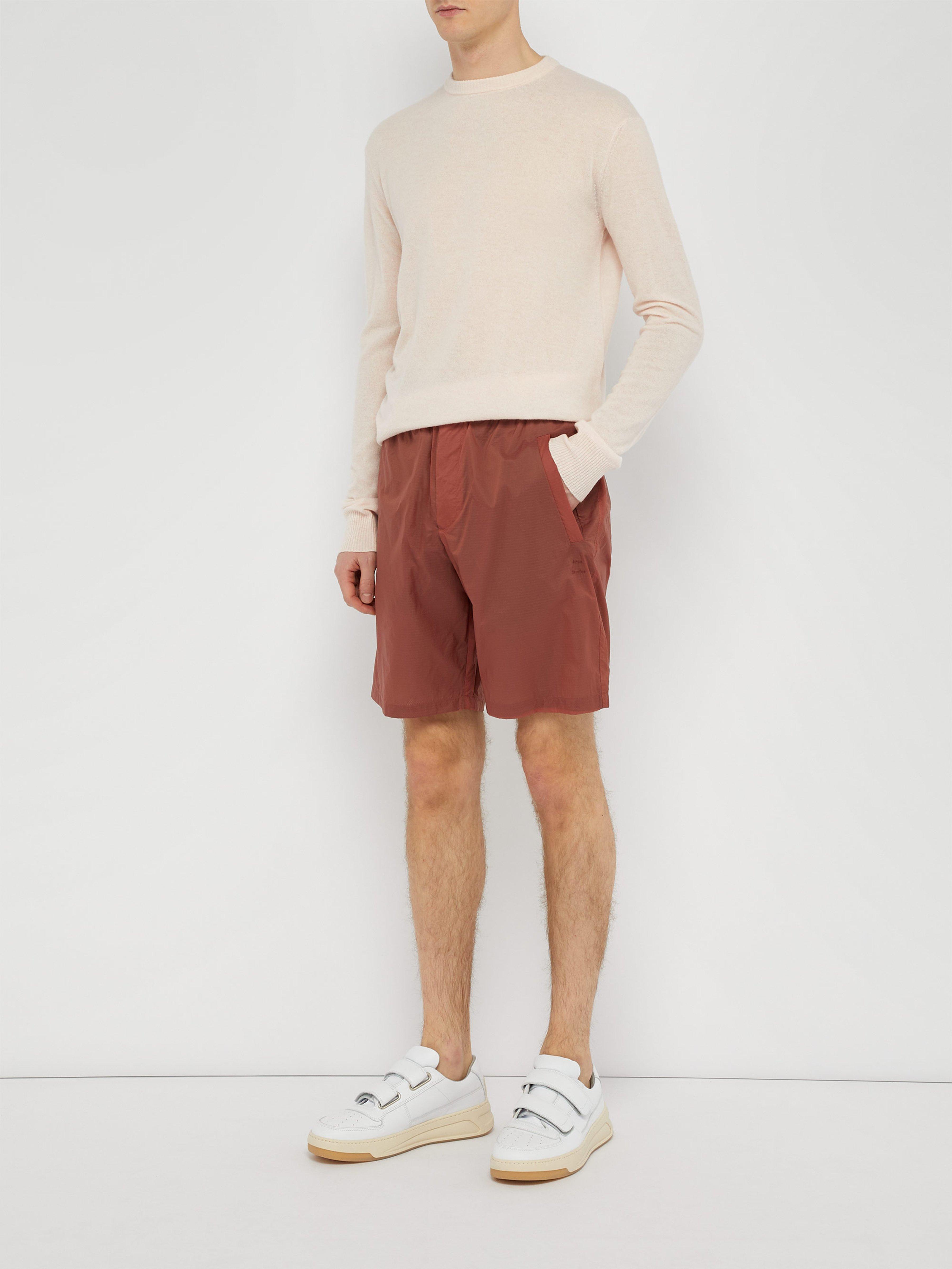 6b62e3b6f9 Acne Studios Ripstop Shorts in Orange for Men - Lyst