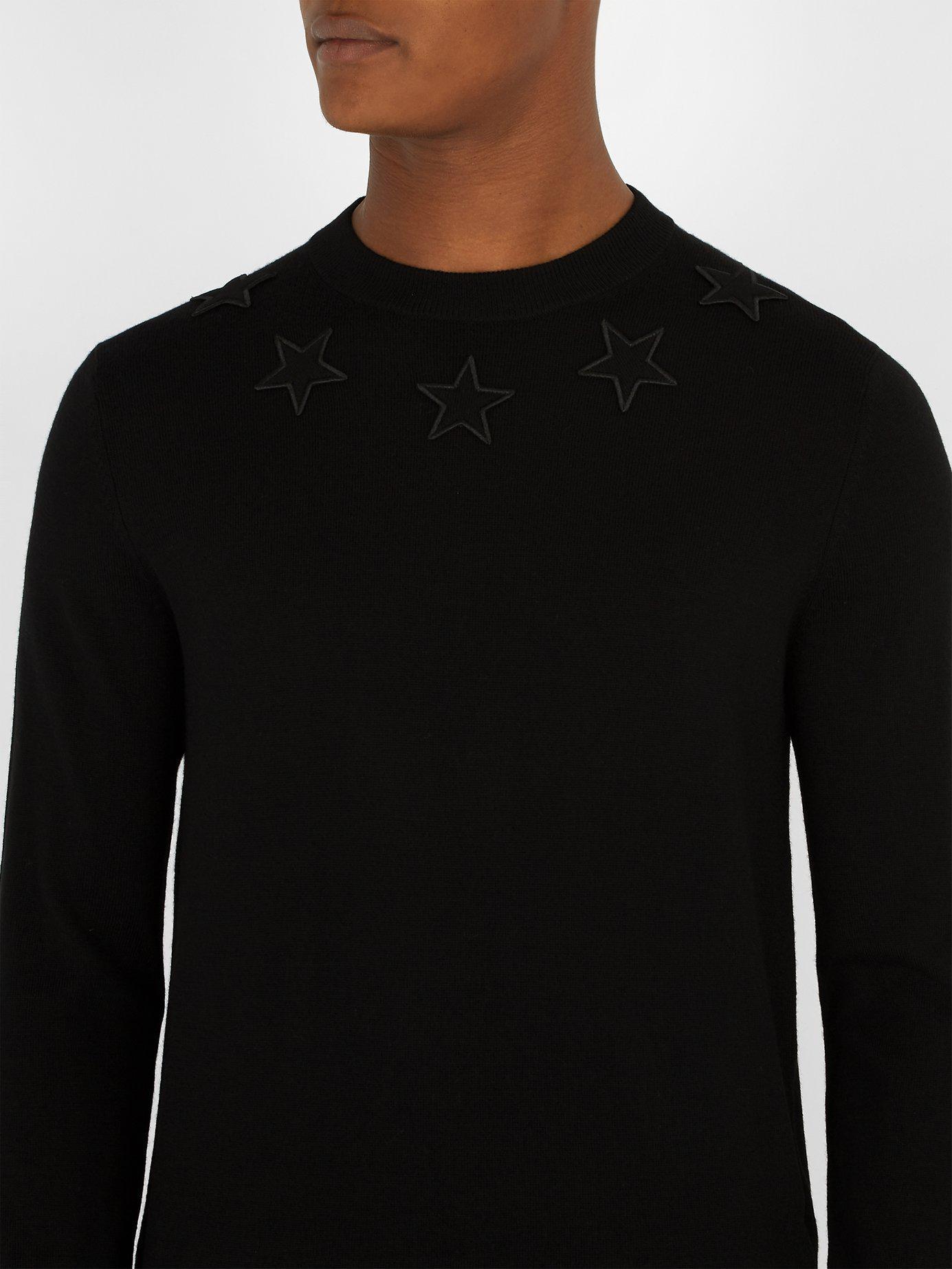 83efb1b337a Lyst - Pull en laine à appliqués étoiles Givenchy pour homme en ...