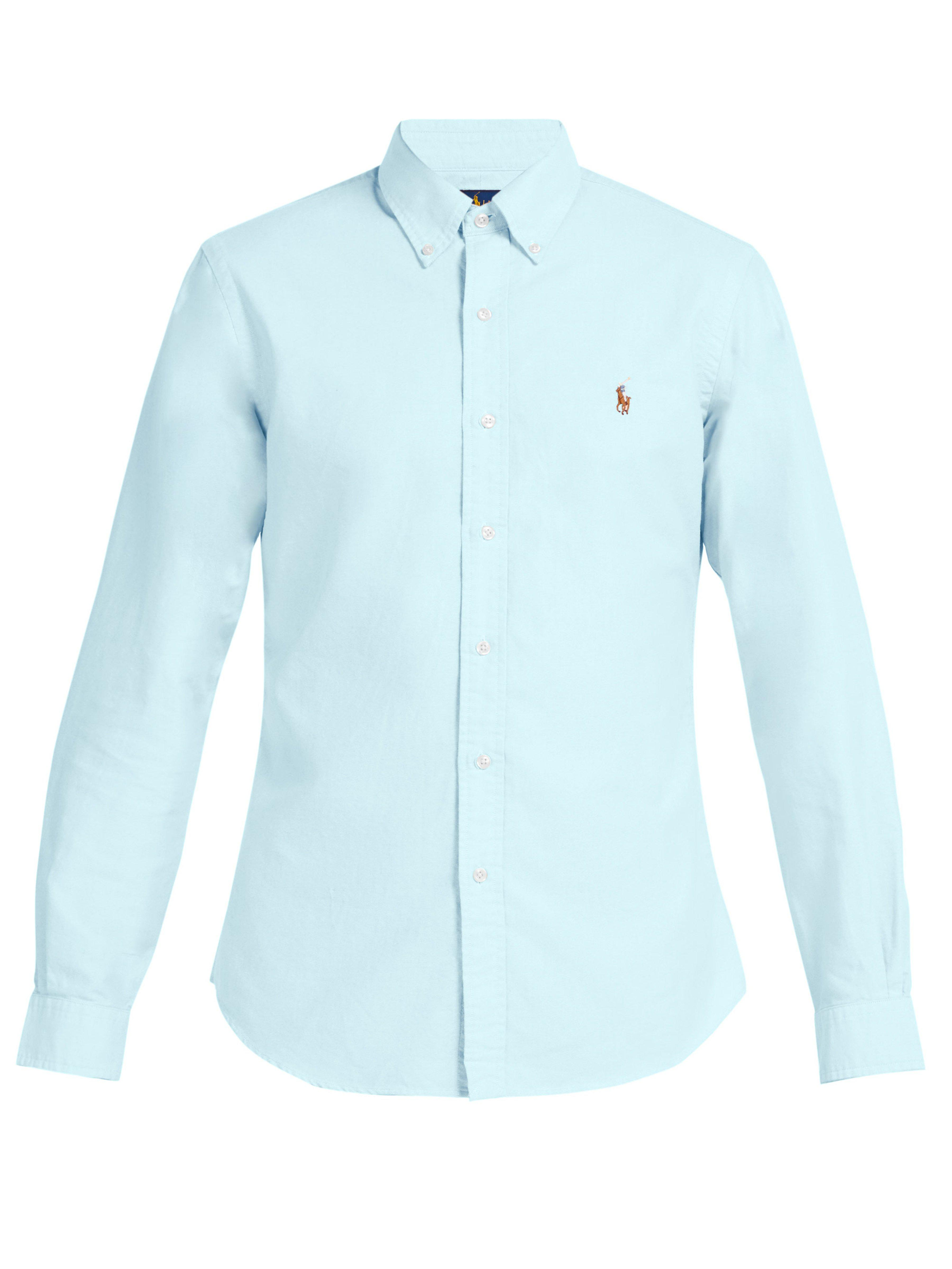 103546d7f1b Polo Ralph Lauren Slim Fit Cotton Oxford Shirt in Blue for Men - Lyst