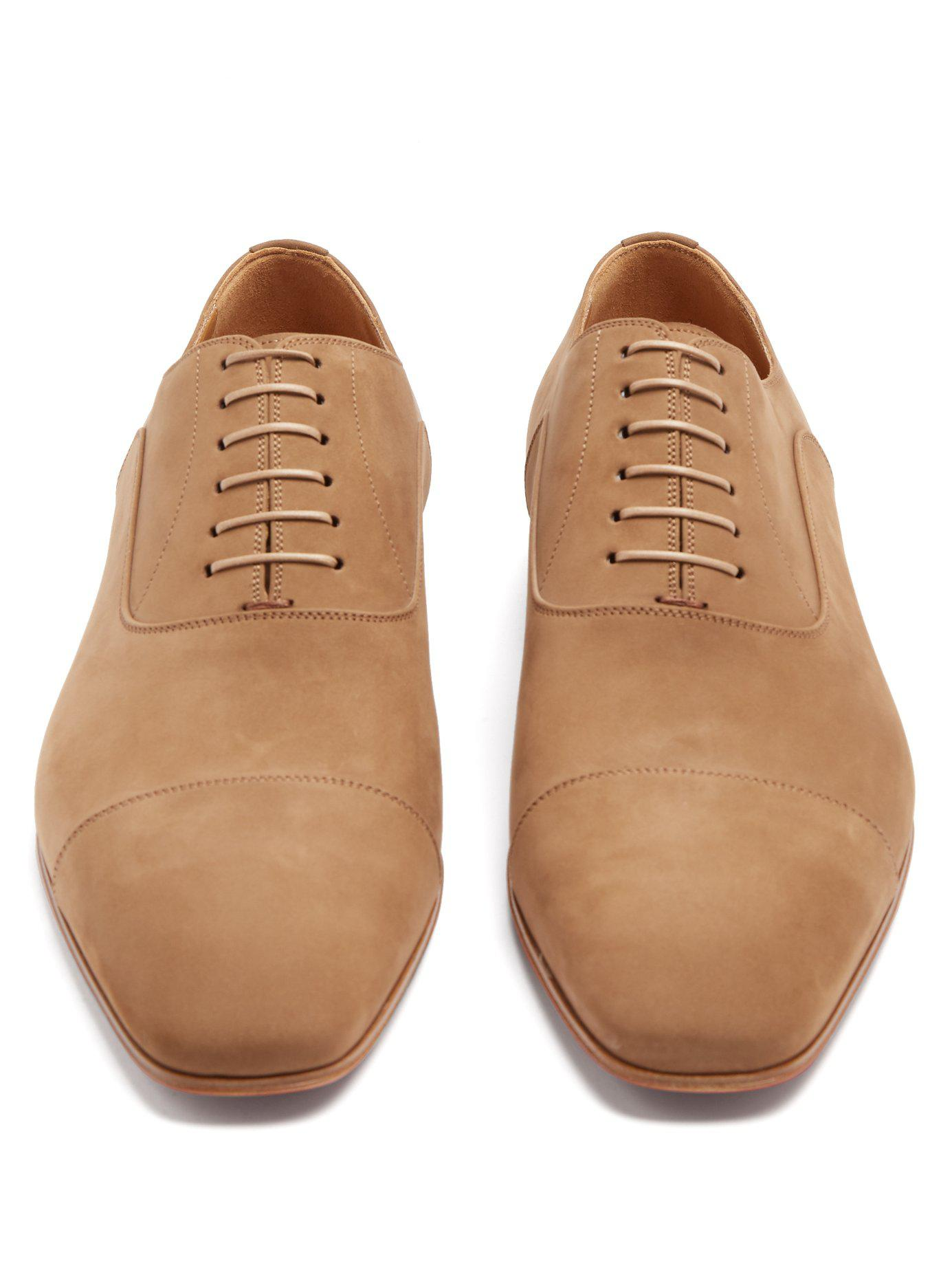 70c9a167938 Christian Louboutin - Natural Greggo Suede Oxford Shoes for Men - Lyst.  View fullscreen