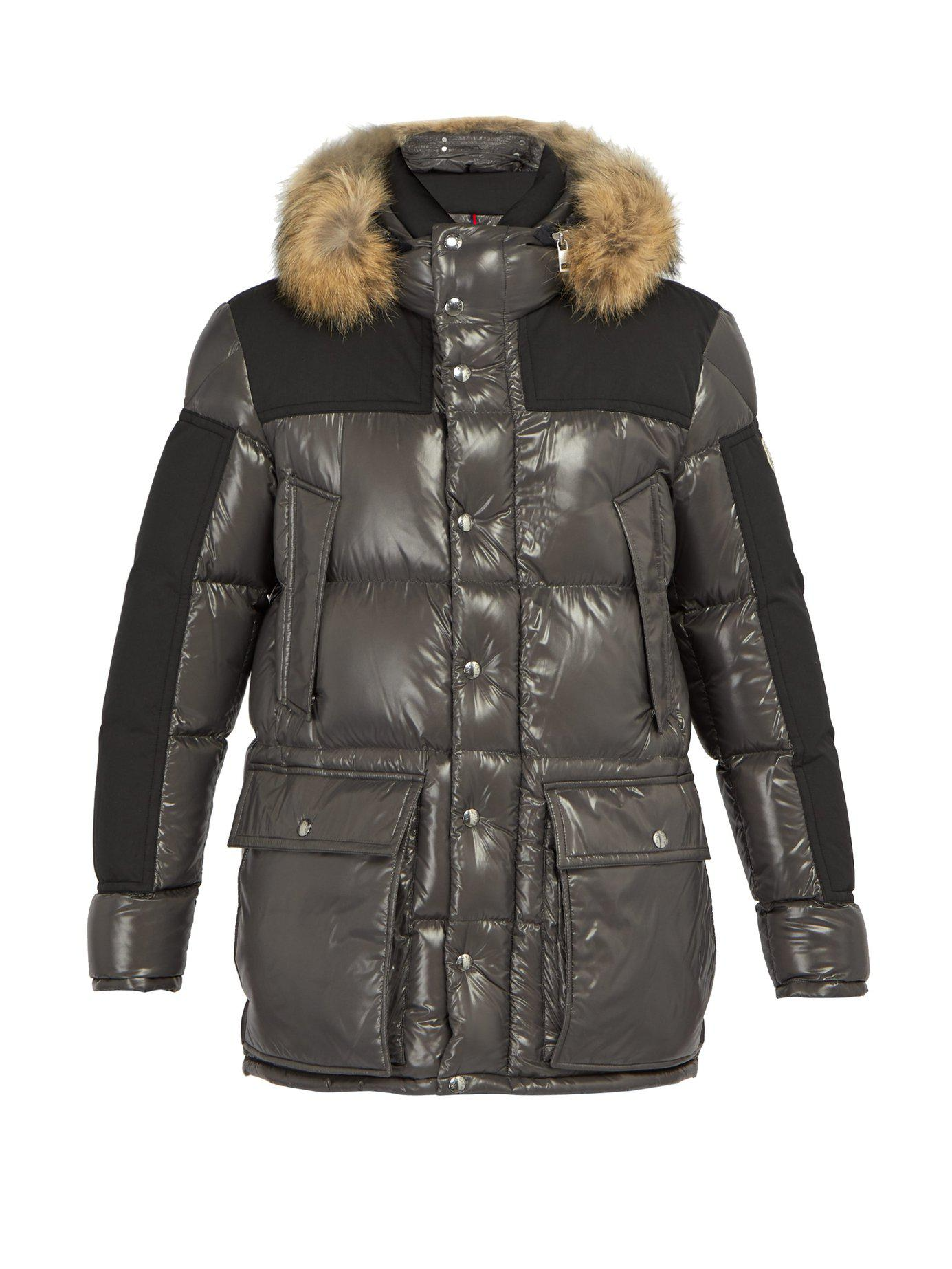 47a61949e353 Lyst - Moncler Frey Quilted Down Parka in Gray for Men