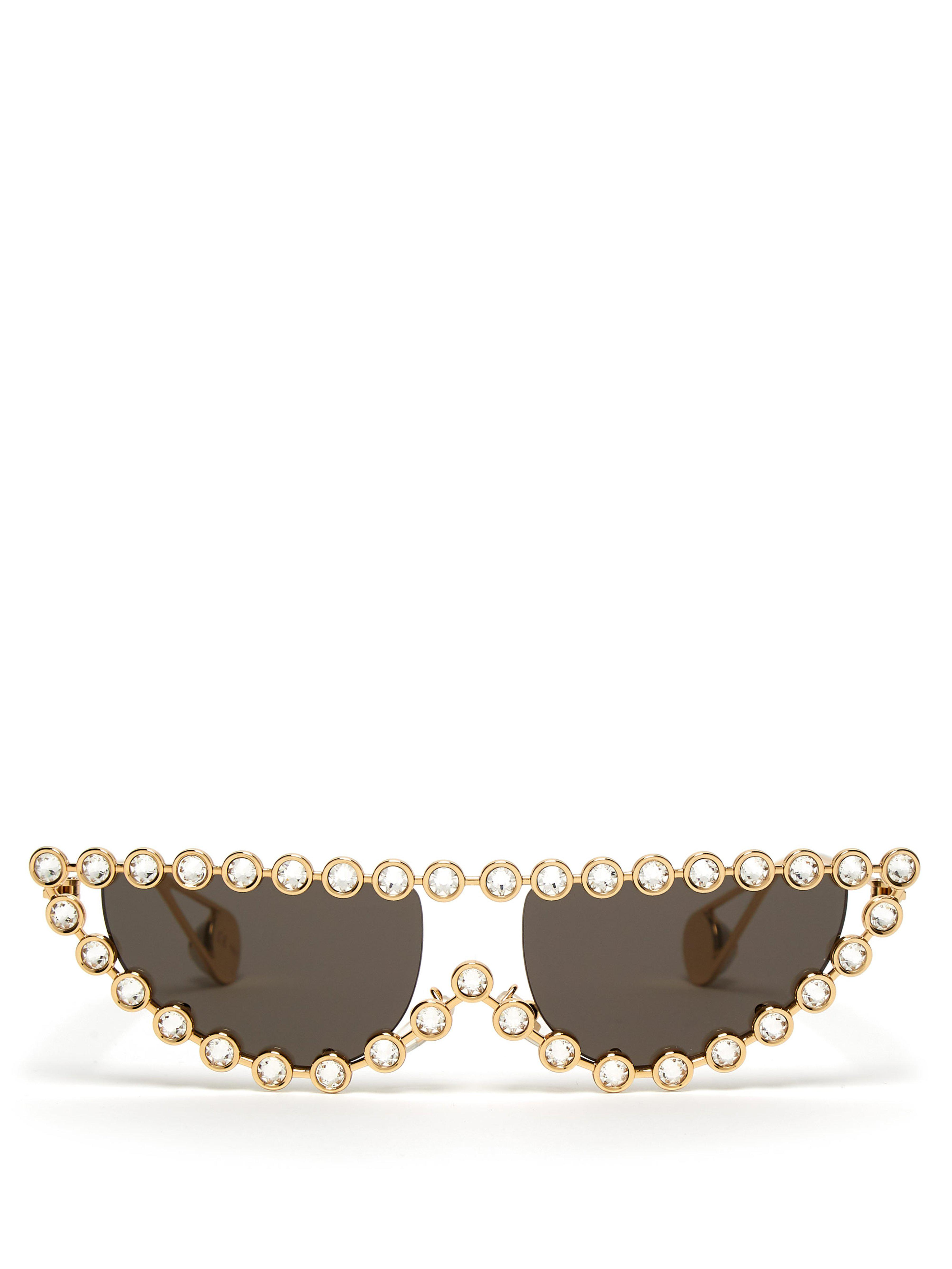 01e2d33ce1 Gucci Embellished Cat Eye Sunglasses in Metallic - Save ...