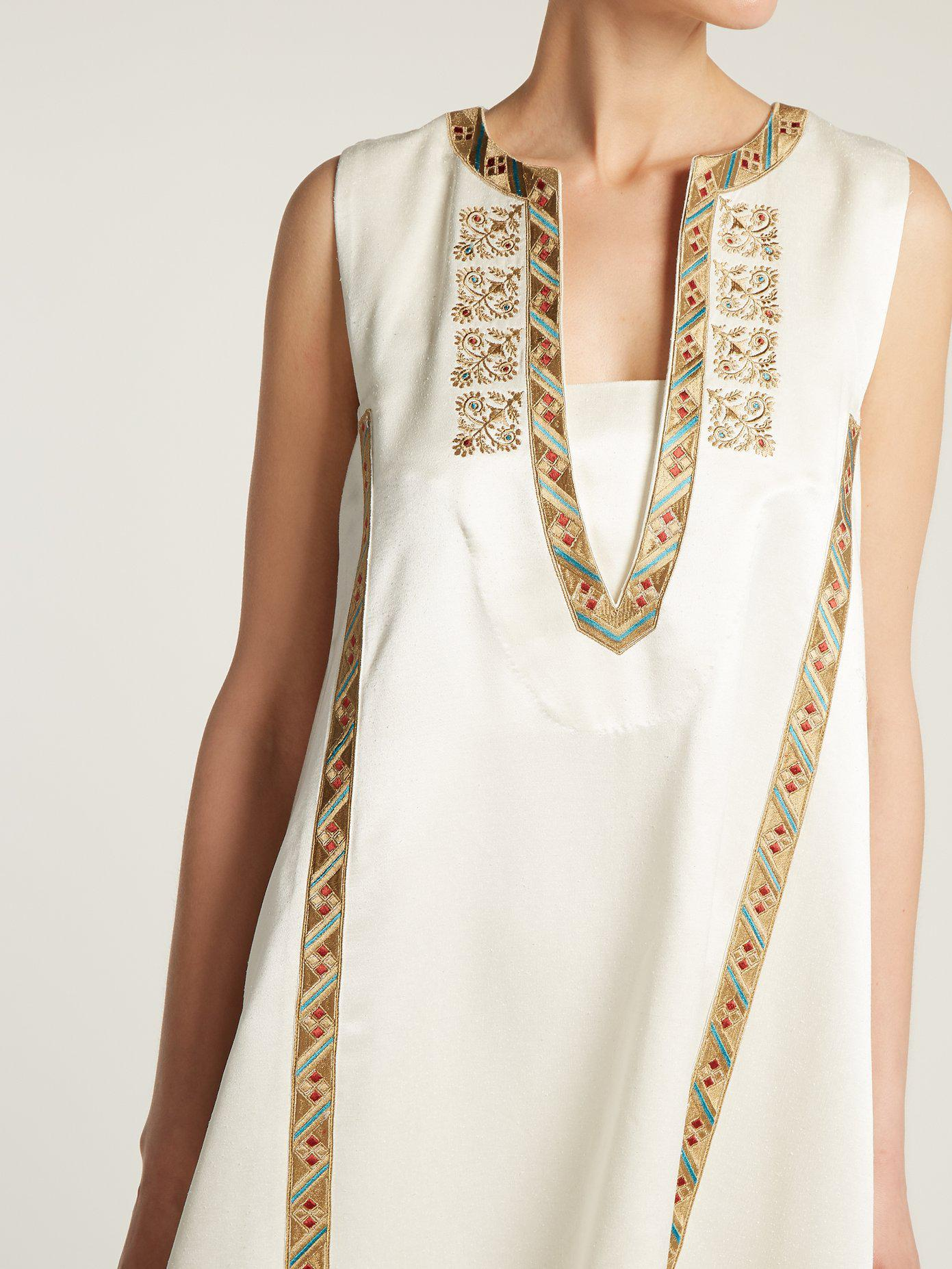 Delos embroidered silk dress Zeus + Dione SnhCF7S