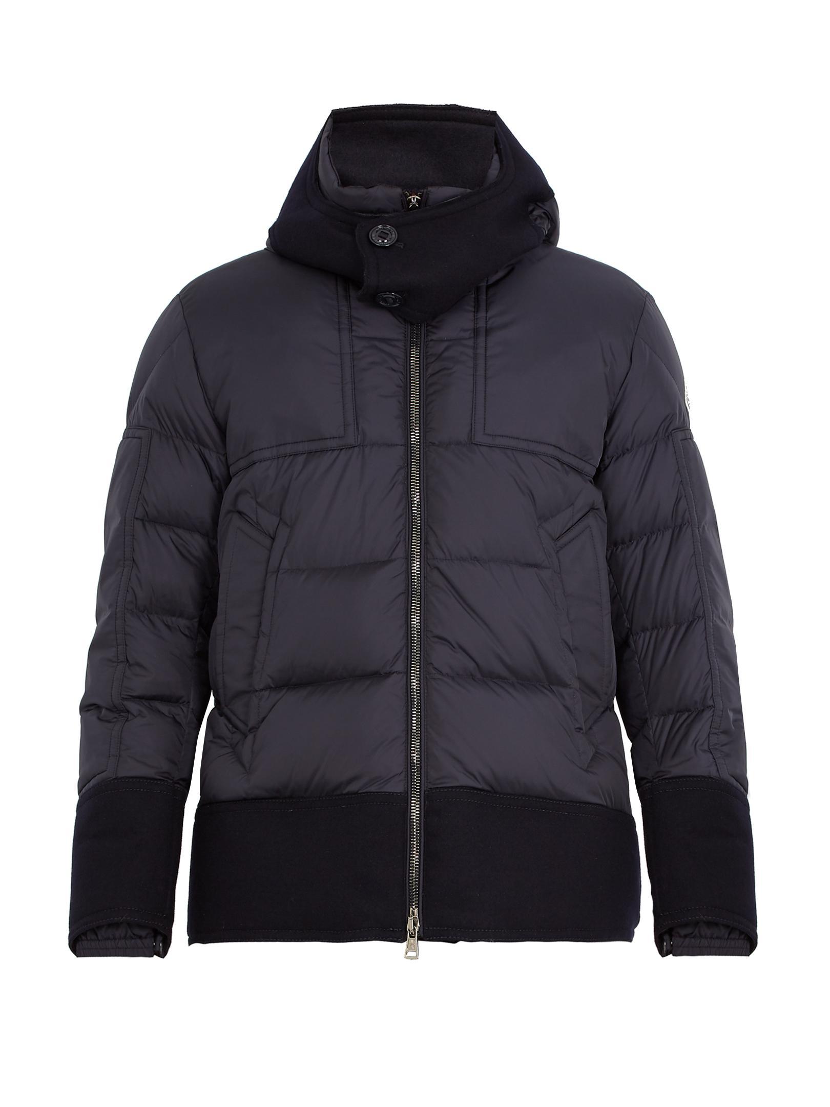 moncler daniel contrast trim padded jacket