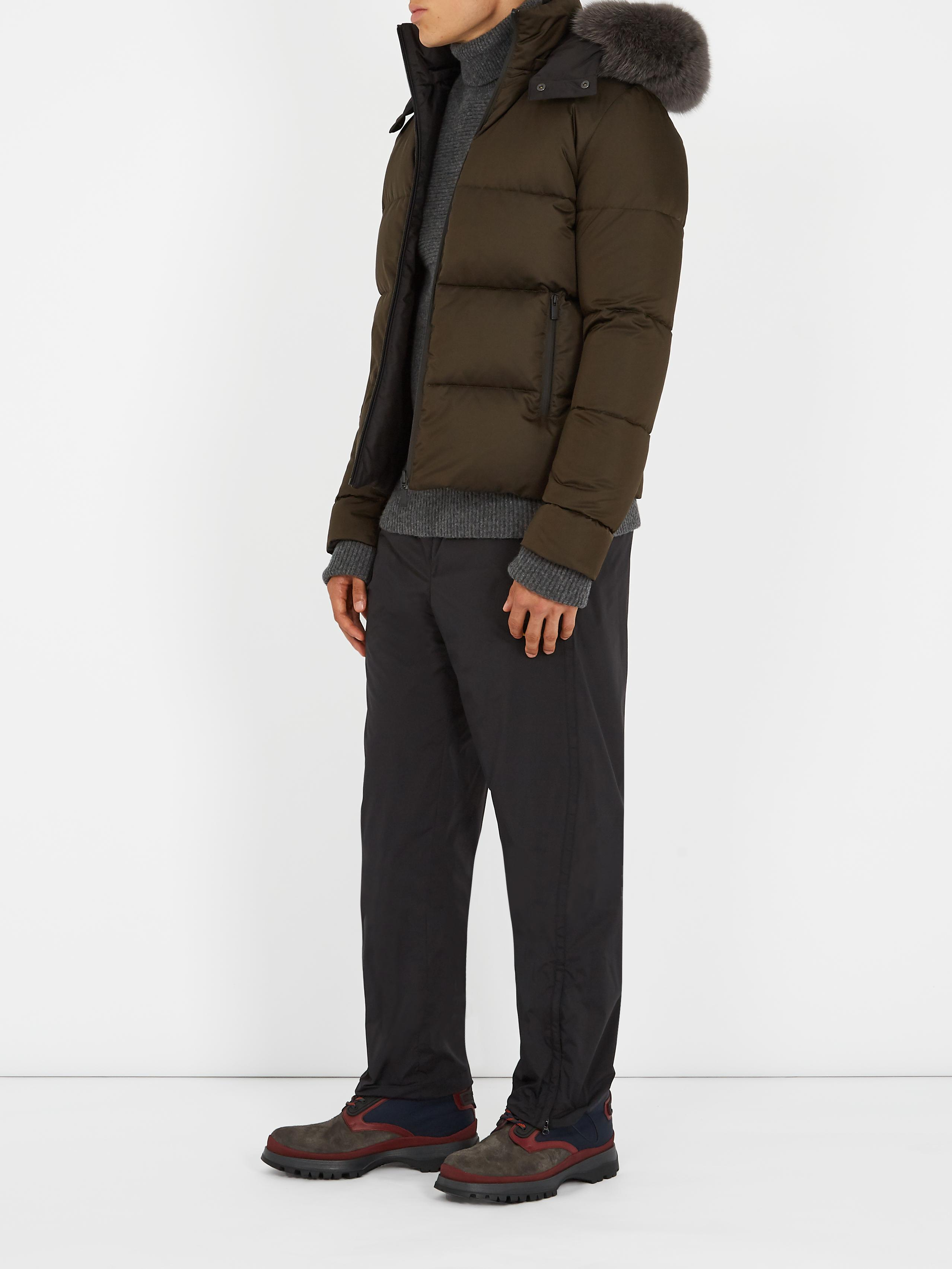 e1bb3247dad Fendi Reversible Fur-trimmed Quilted-down Coat for Men - Lyst
