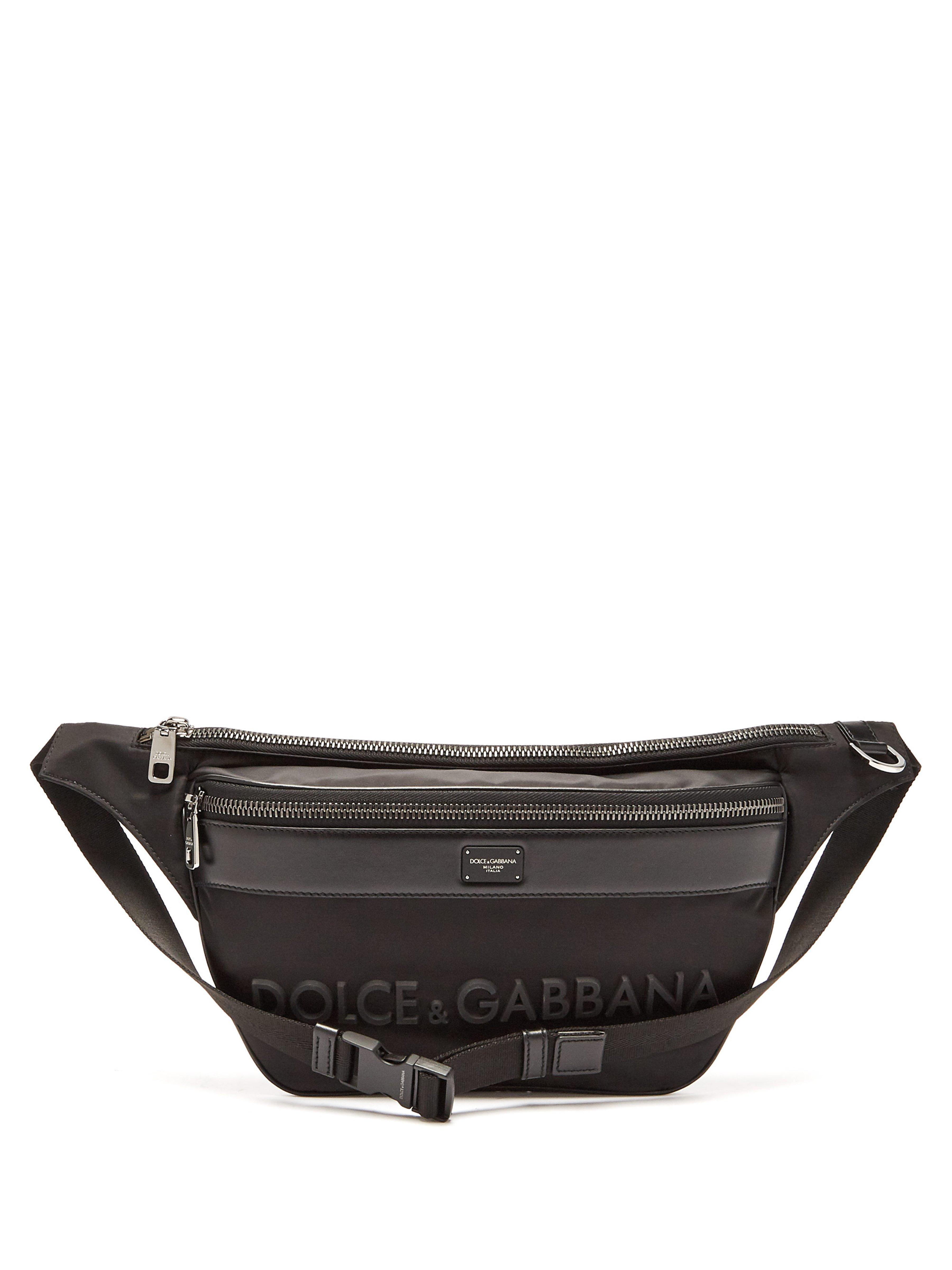 Dolce   Gabbana Logo Plaque Nylon Belt Bag in Black for Men - Lyst 1b871632d4e1e