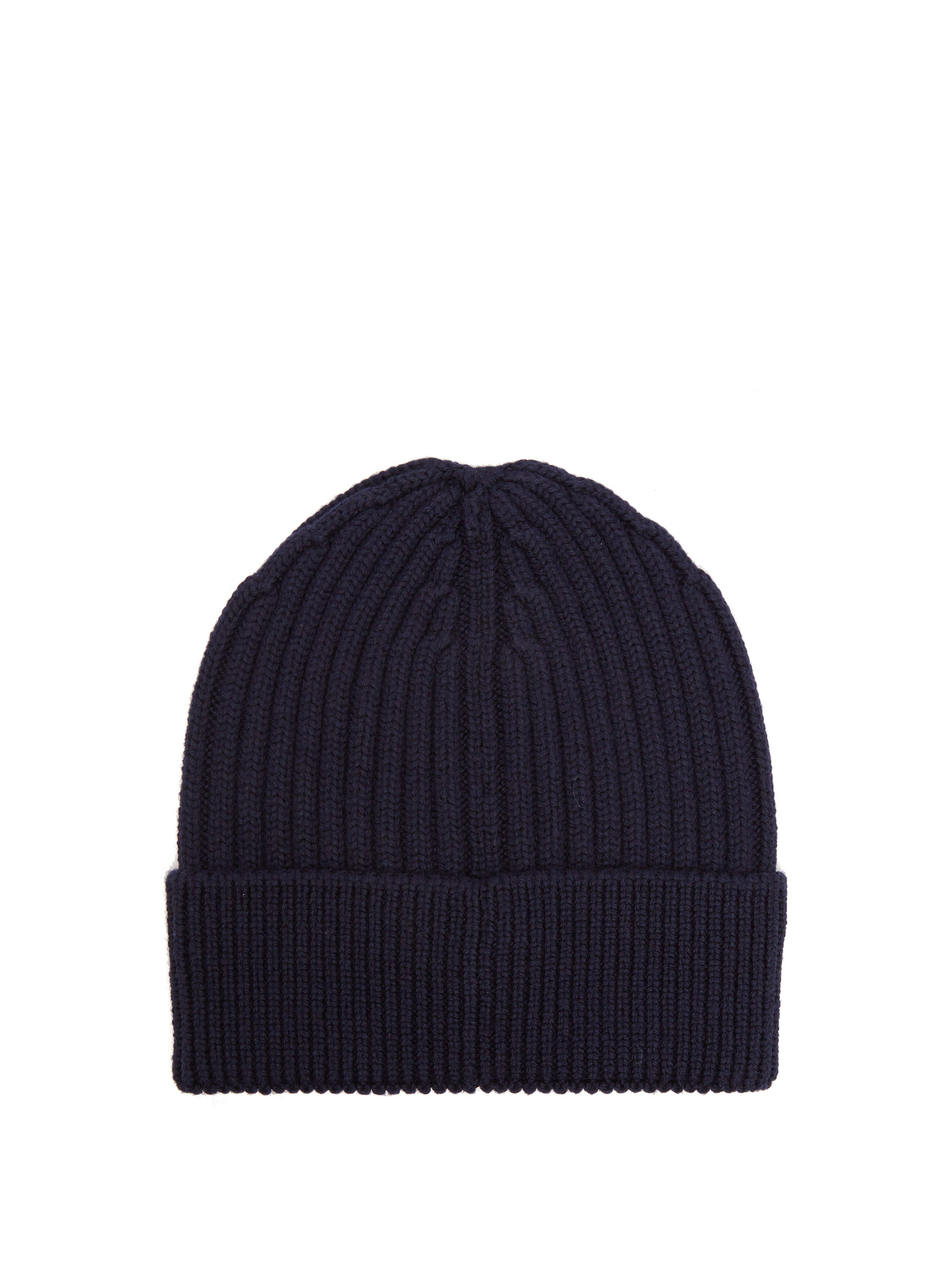 23bd8144d46f6 Moncler Grenoble Logo Embroidered Wool Beanie Hat in Blue for Men - Lyst