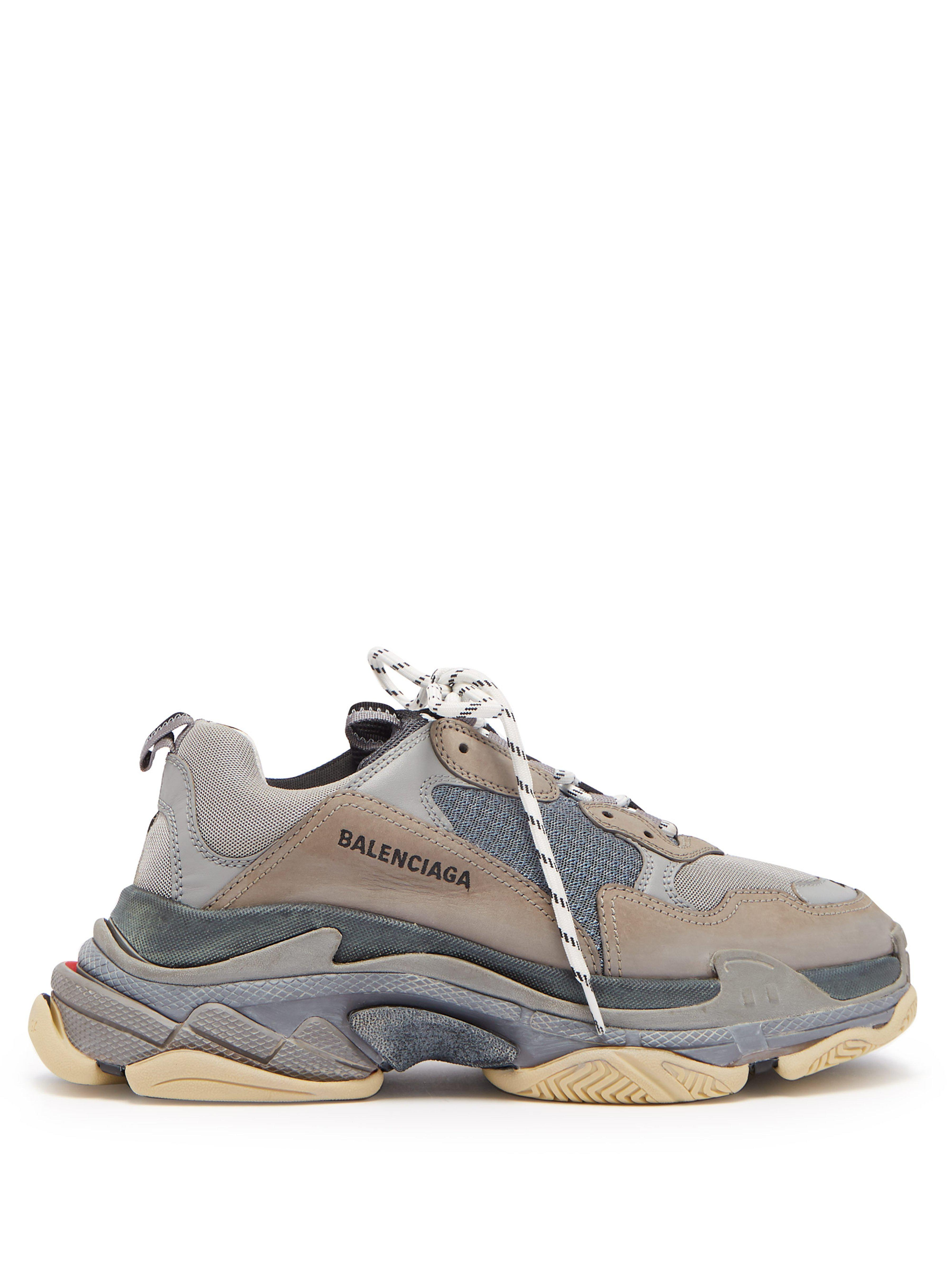 Balenciaga Triple S Split Colourway Low Top Trainers in Gray for Men ... 02d54e27b0
