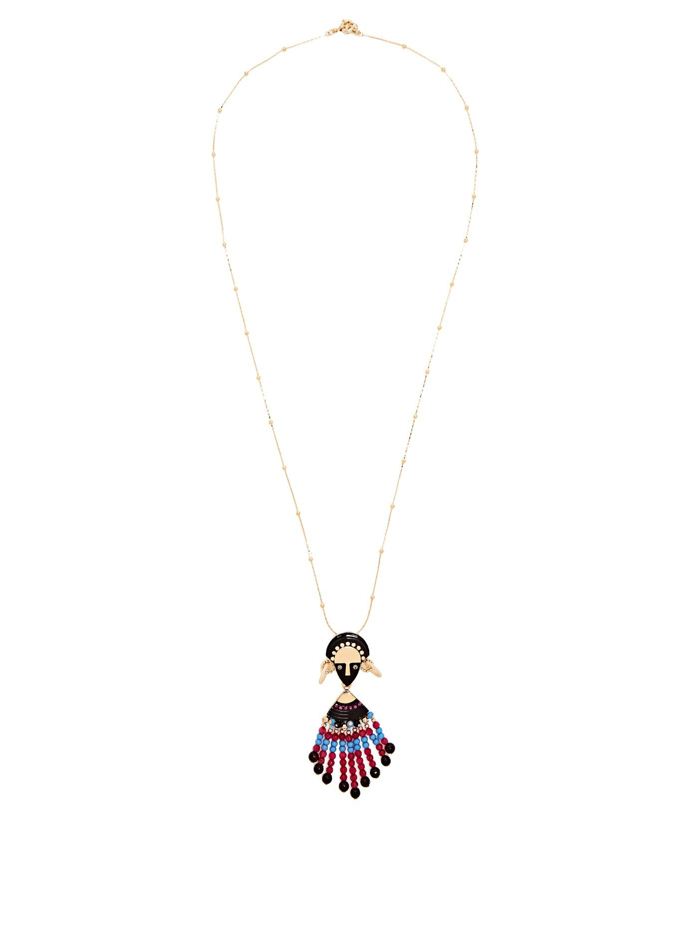 Etro FLOWER PENDENT NECKLACE qXhfQ