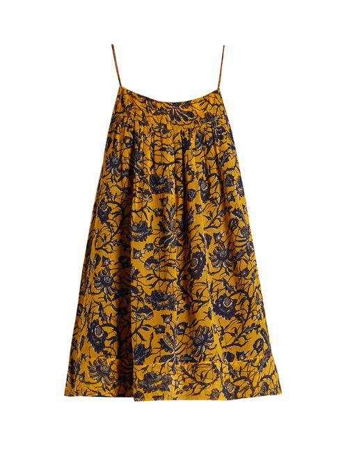 3584efb26e218e Étoile Isabel Marant - Yellow Bronson Floral-print Silk-chiffon Top - Lyst