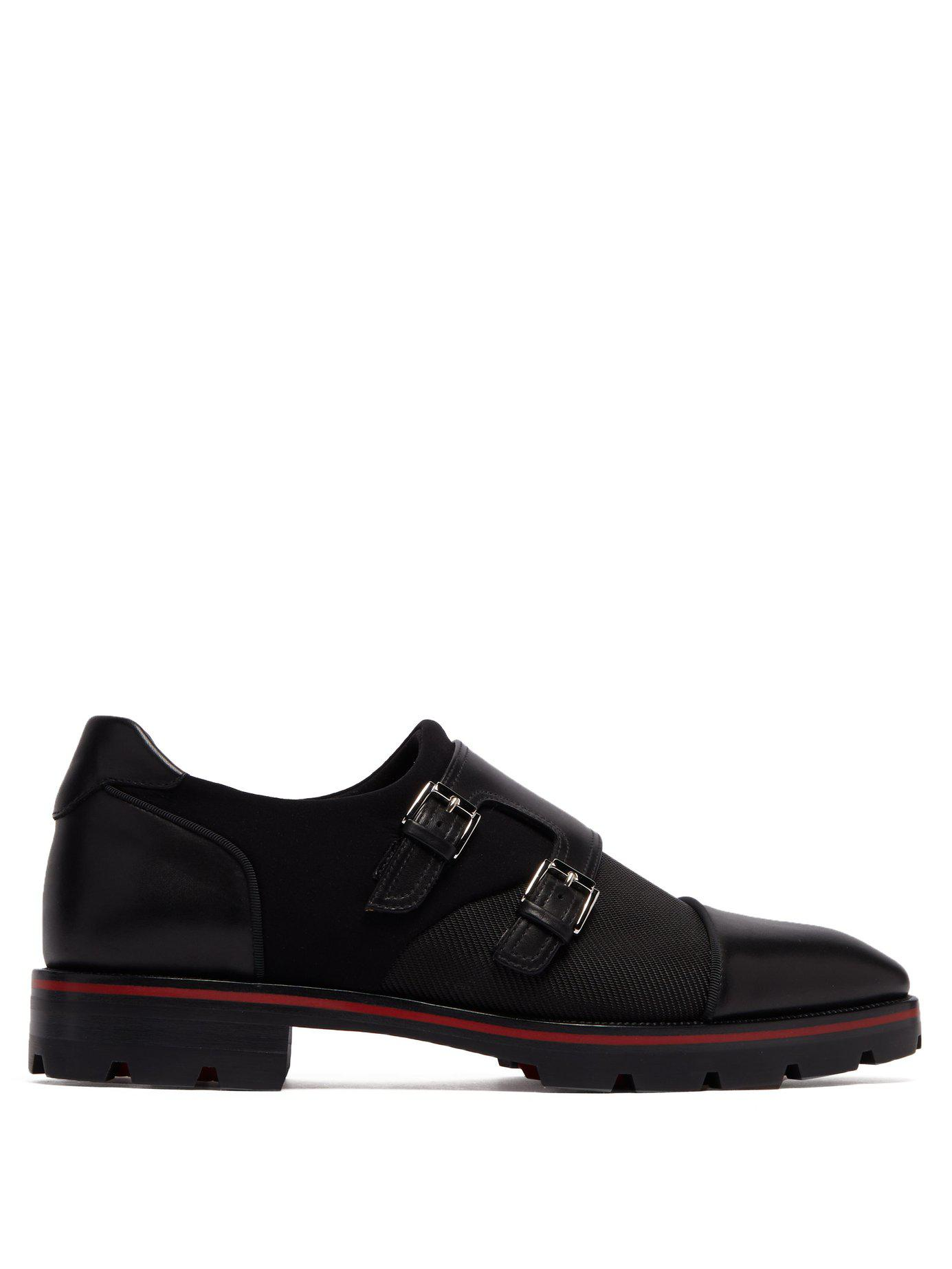 c99b5e976f2 Lyst - Christian Louboutin Mortisky Leather Derby Shoes in Black for Men