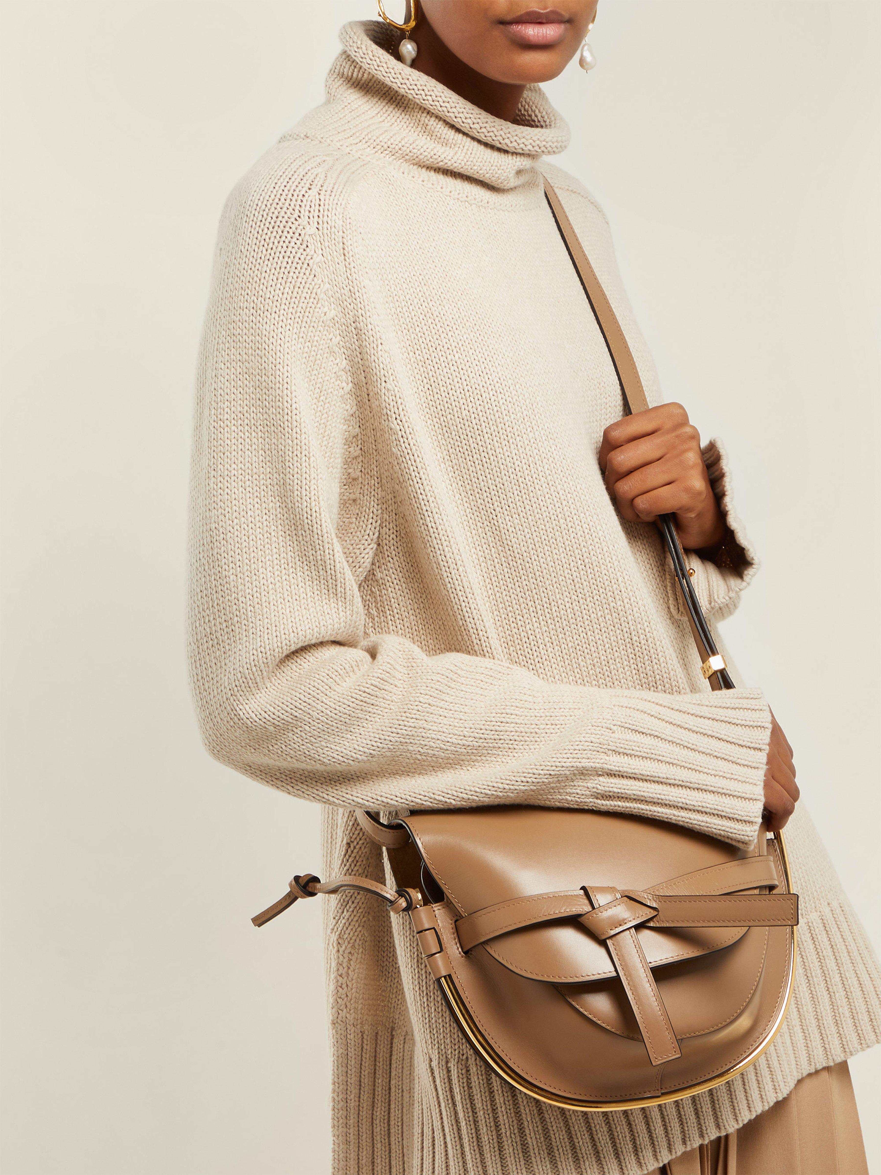 97757216e98d Loewe Gate Small Leather Cross Body Bag - Lyst