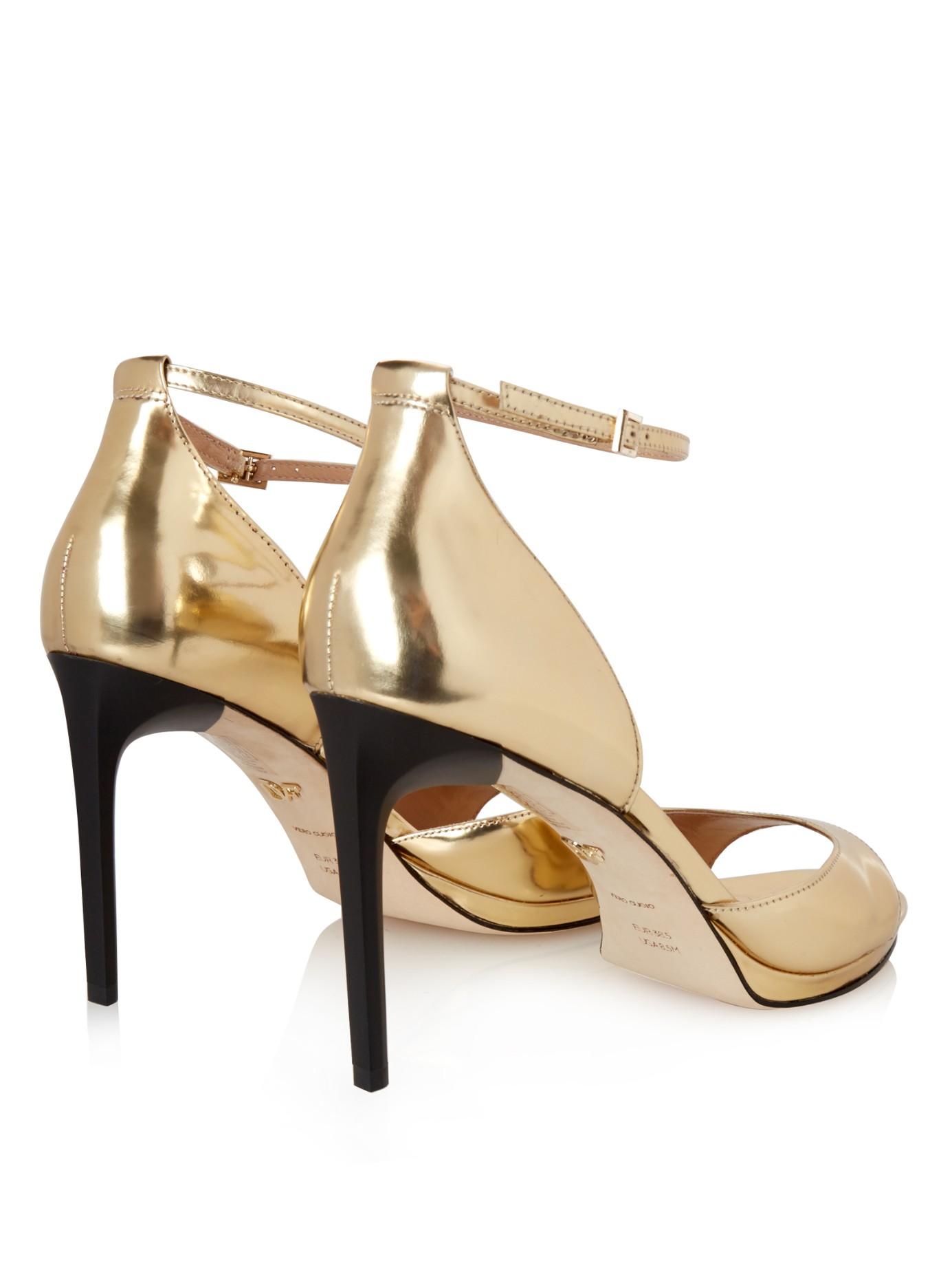 Diane von Furstenberg Snakeskin Cutout Sandals outlet affordable 0aT8gMgB5