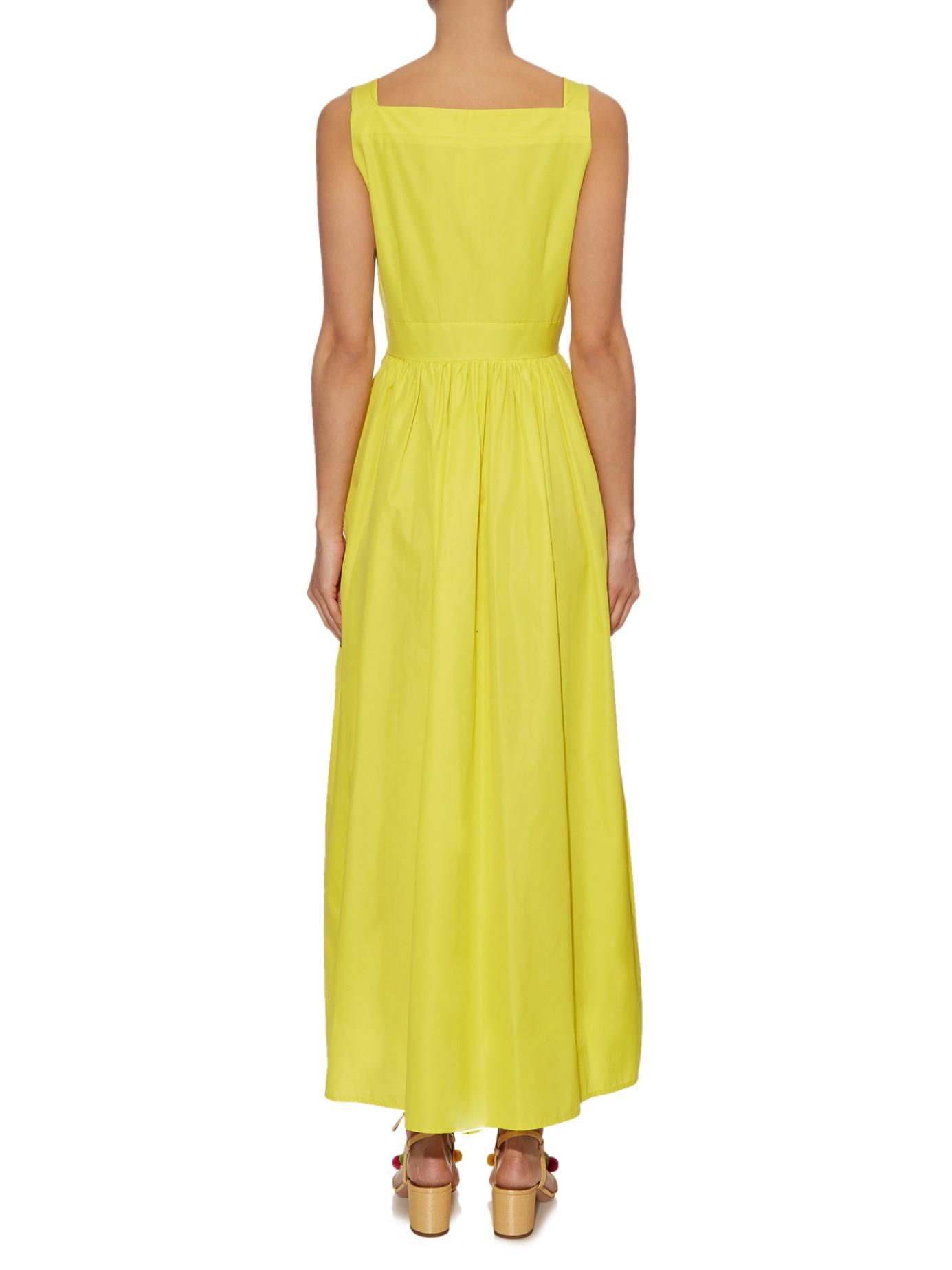 max mara studio rosa dress in yellow lyst. Black Bedroom Furniture Sets. Home Design Ideas