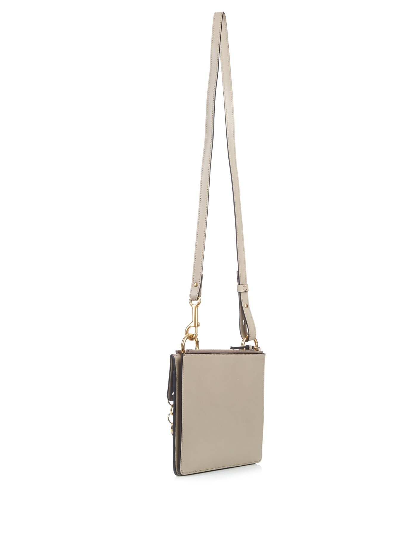 Chlo�� Jane Suede And Leather Cross-Body Bag in Multicolor (GREY ...