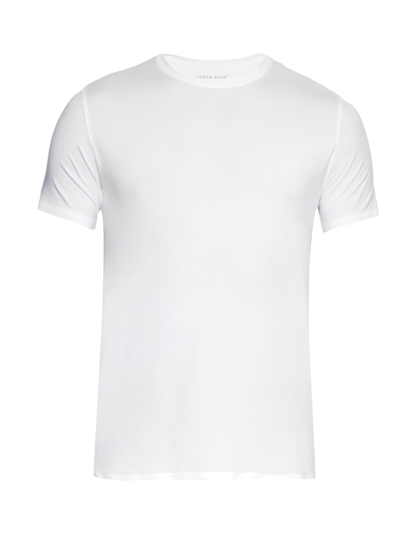 Derek Rose Basel Short Sleeved Jersey T Shirt In White For
