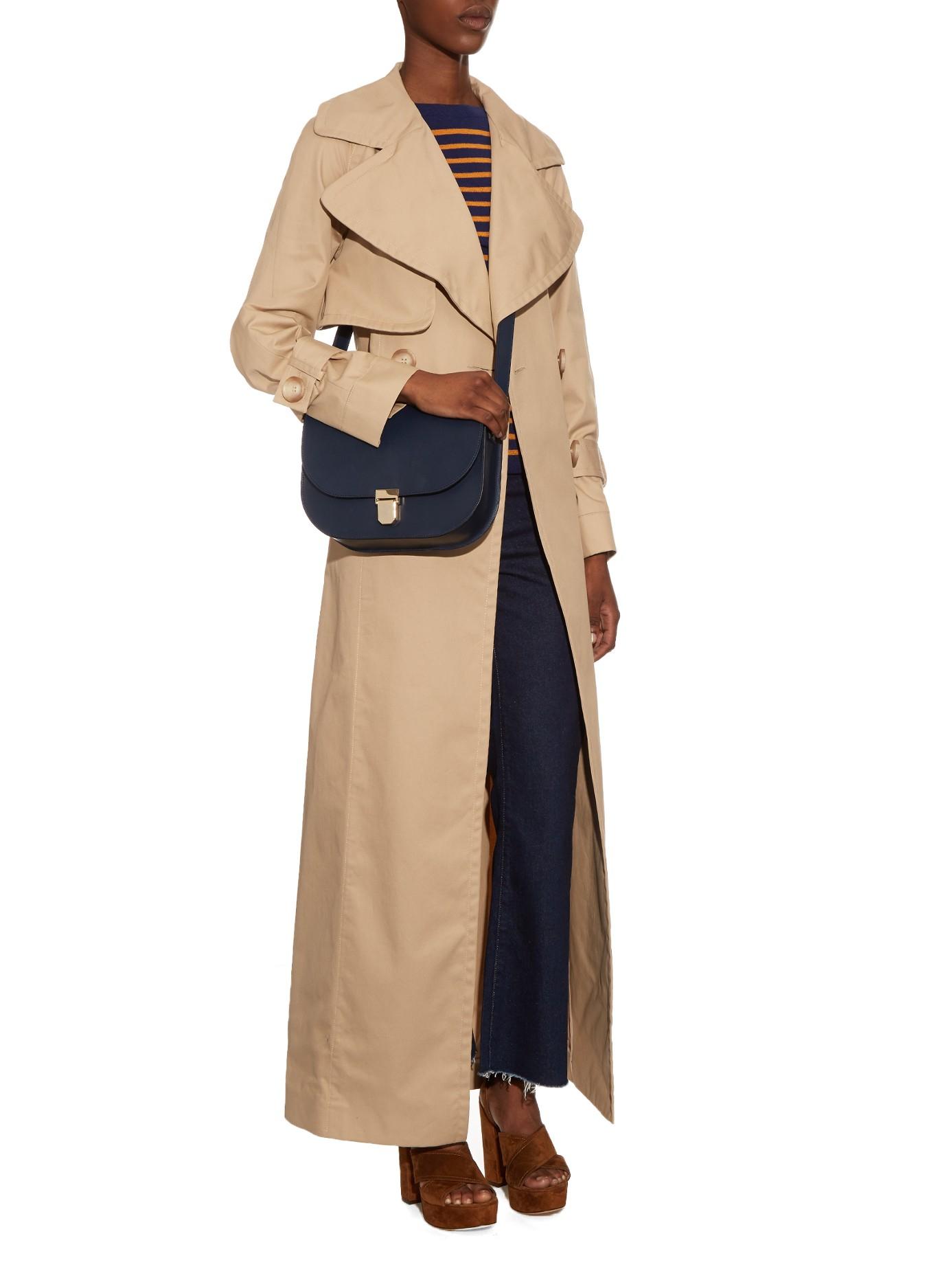 b9a2985b85 Lyst - A.P.C. Vienne Leather Satchel Cross-body Bag in Blue